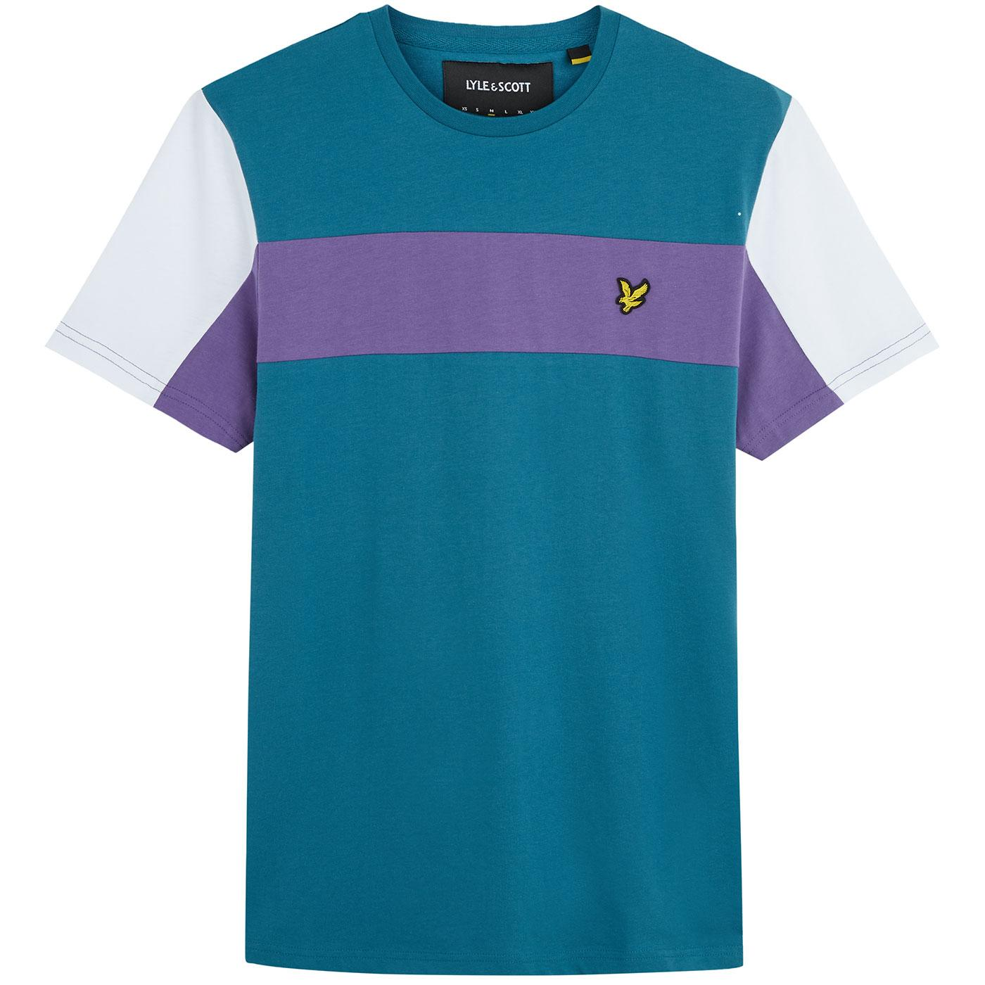 LYLE & SCOTT Retro Colour Block Panel T-shirt PT