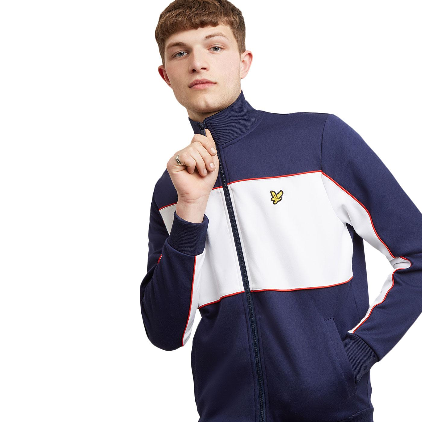 LYLE & SCOTT Retro Colourblock Track Jacket (Navy)