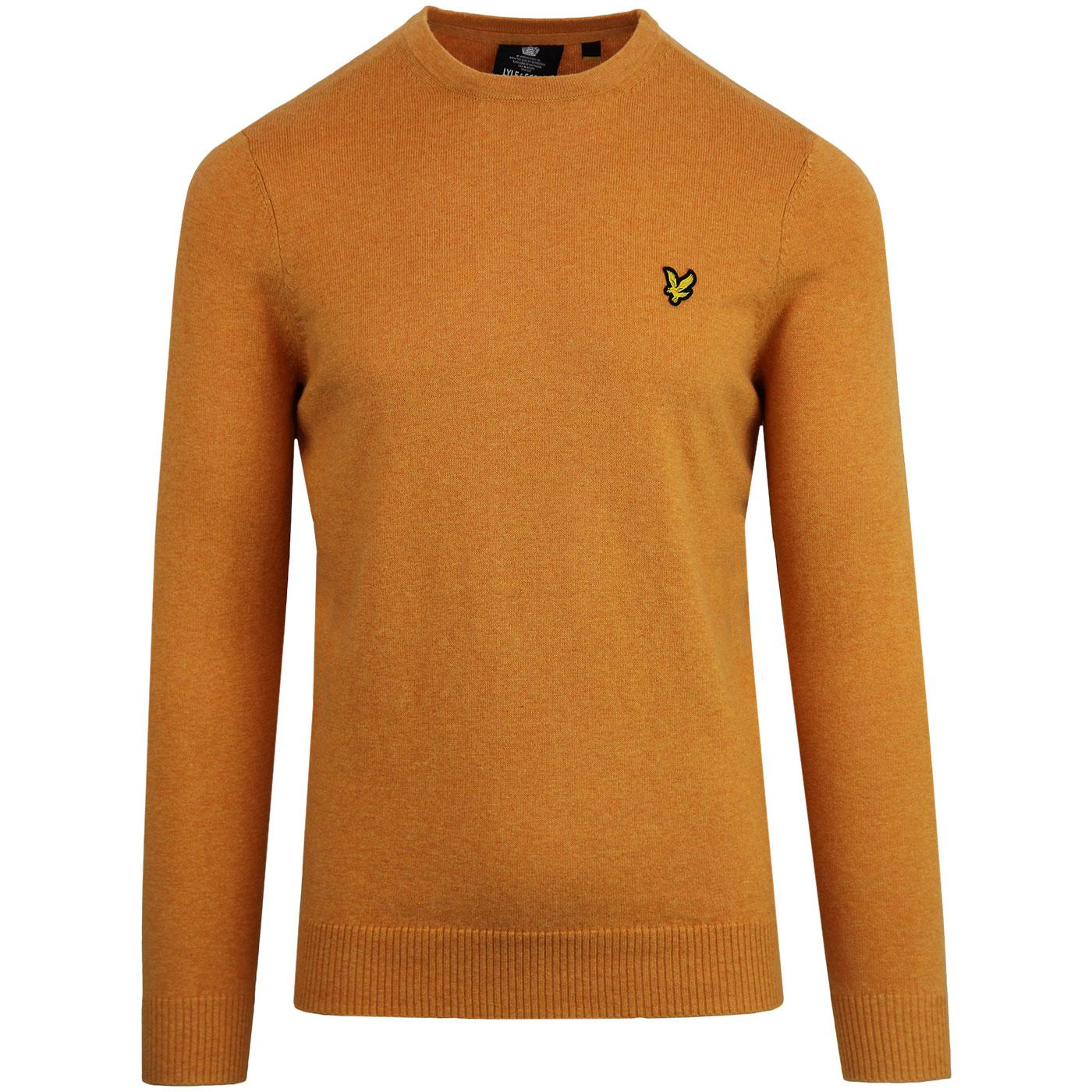 LYLE & SCOTT Mod Cotton Merino Crew Jumper (Honey)
