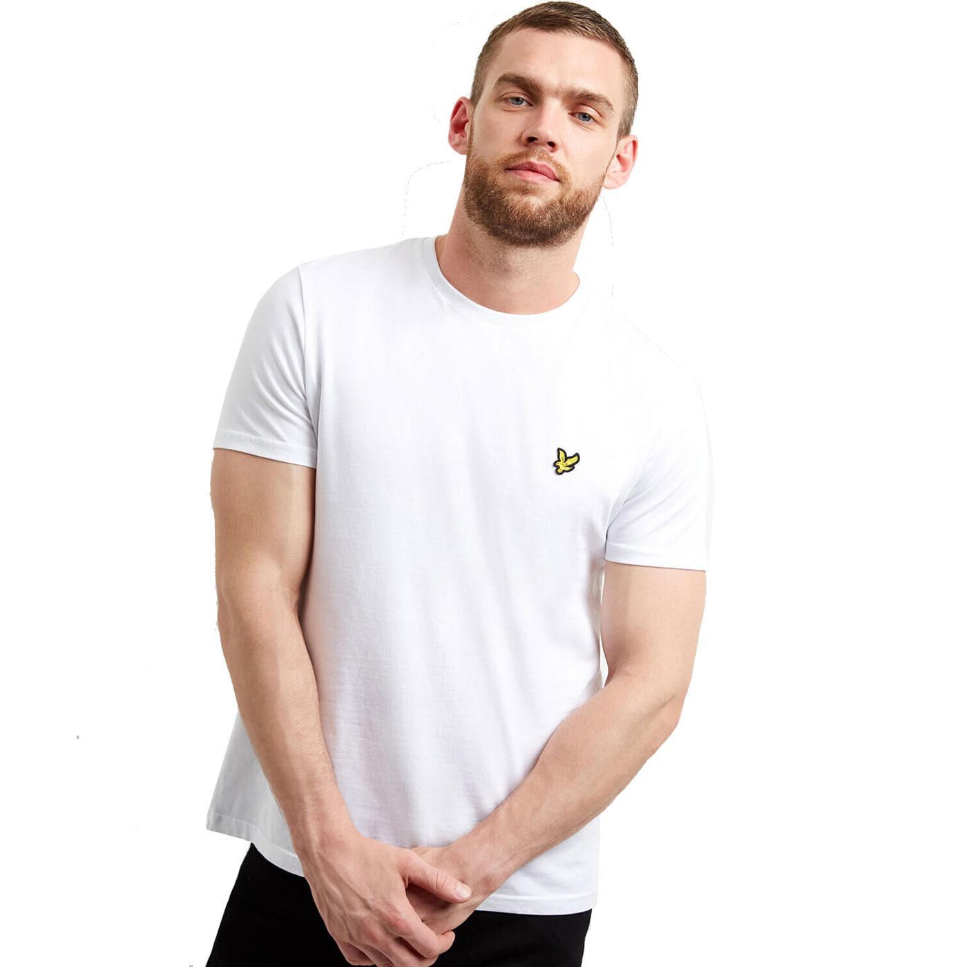 LYLE & SCOTT Men's Basic Crew Neck T-Shirt (White)