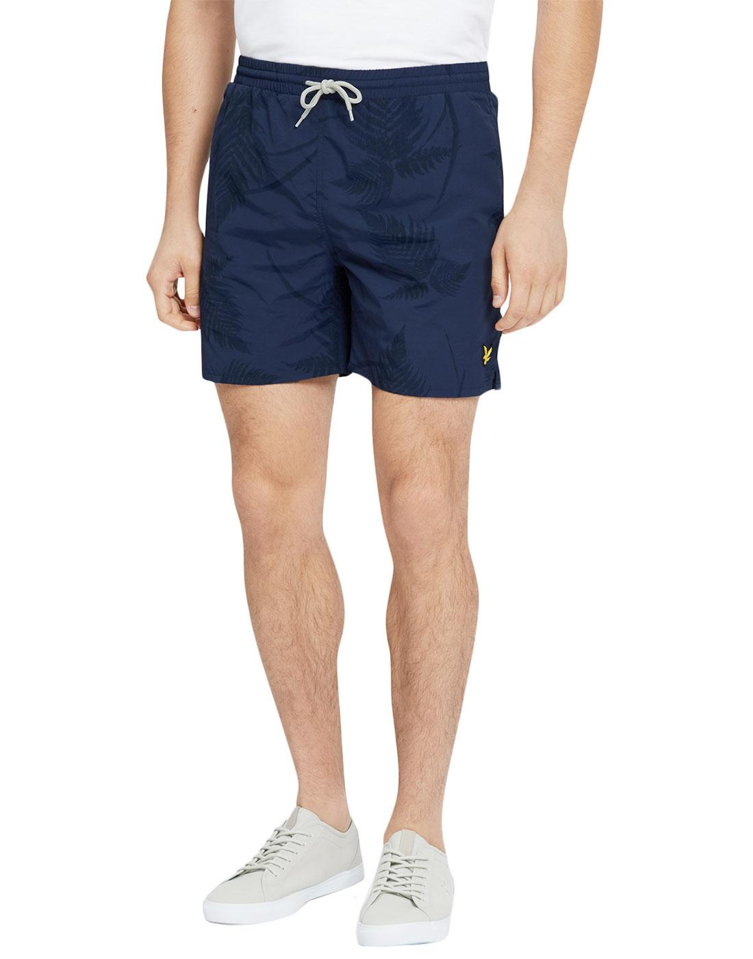 LYLE & SCOTT Mens Retro 70s Fern Print Swim Shorts