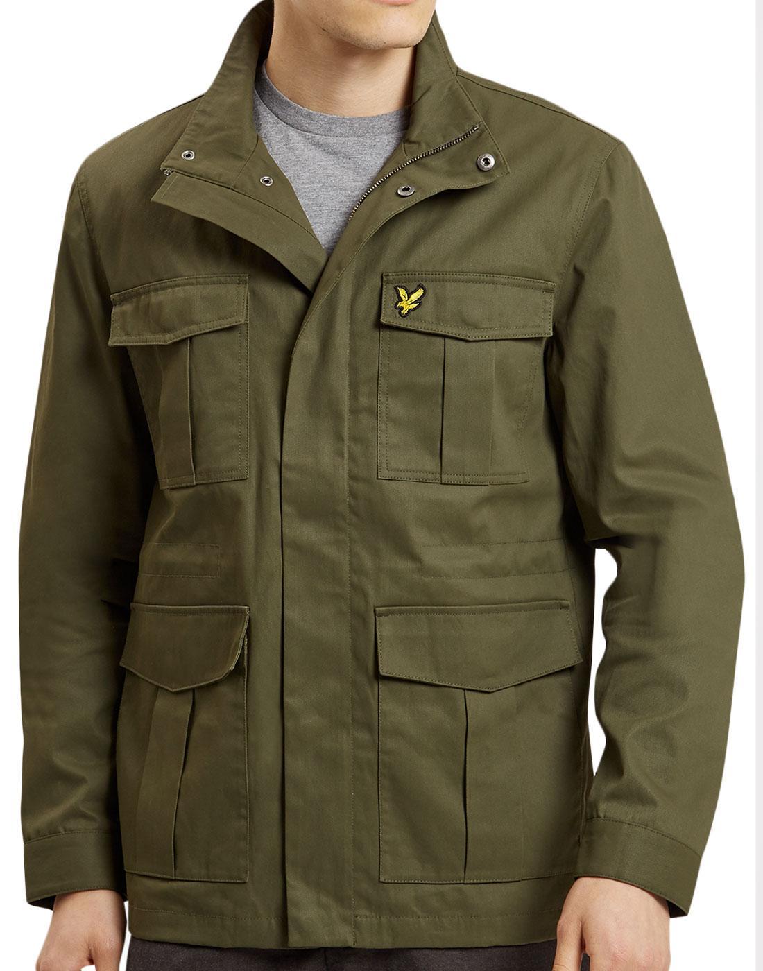 LYLE & SCOTT Retro Mod Military Field Jacket OLIVE