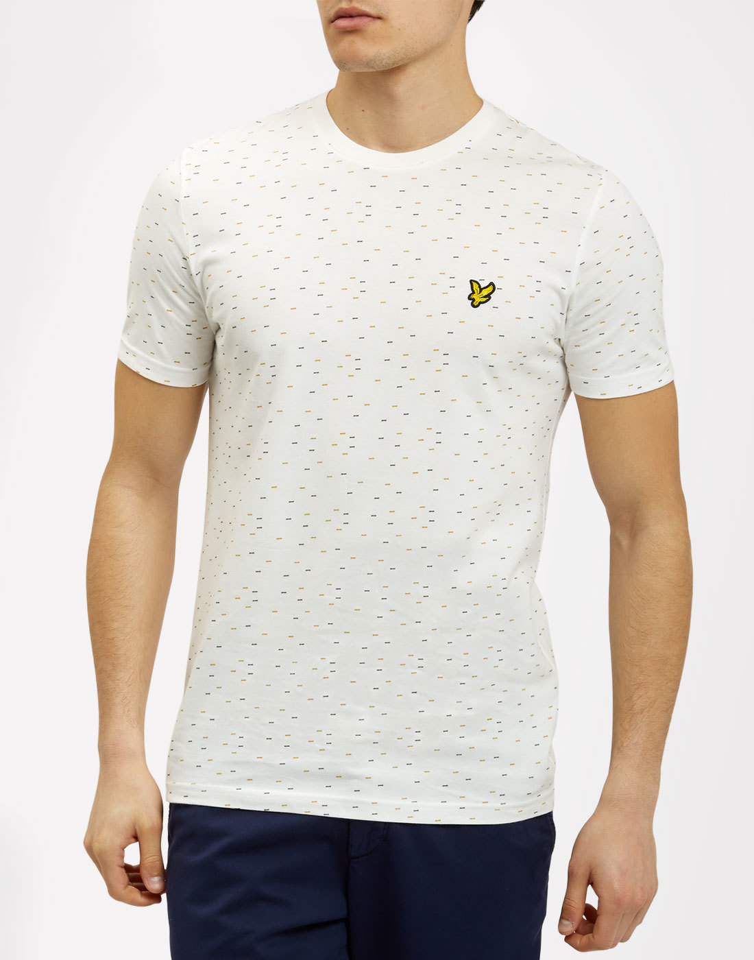 LYLE AND SCOTT Retro 70s Indie Fil Coupe Tee (OW)
