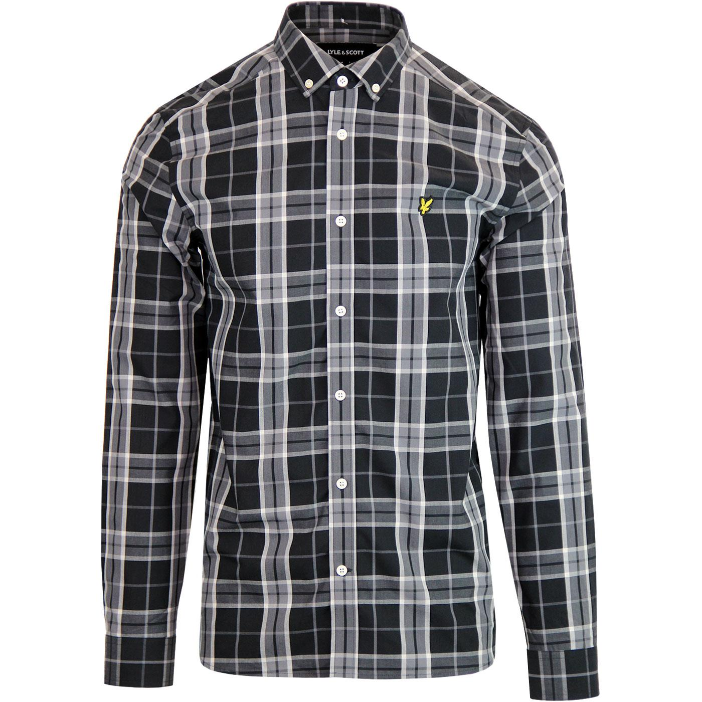 LYLE & SCOTT Retro Poplin Check Button Down Shirt