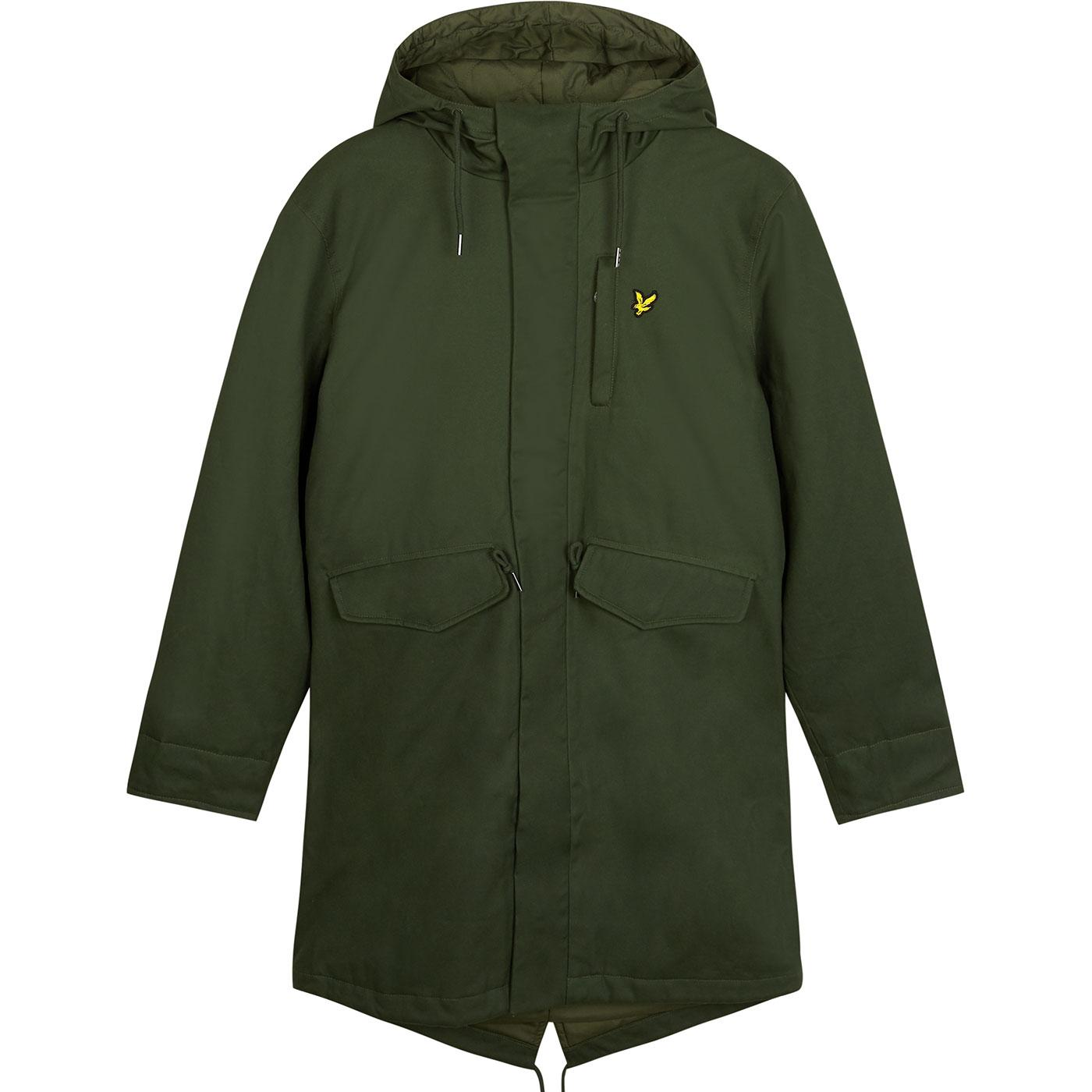 LYLE & SCOTT 60s Mod Waxed Fishtail Parka Jacket G