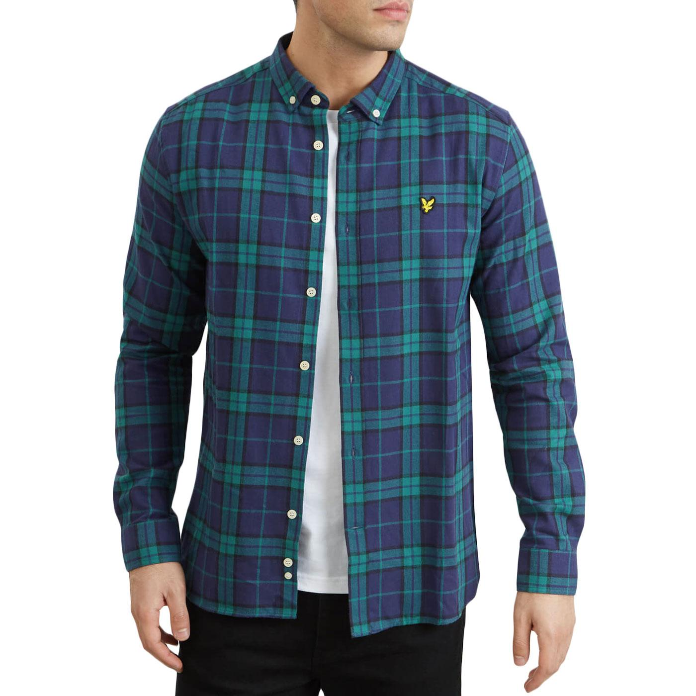 LYLE & SCOTT Retro Mod Flannel Check Shirt (AG)