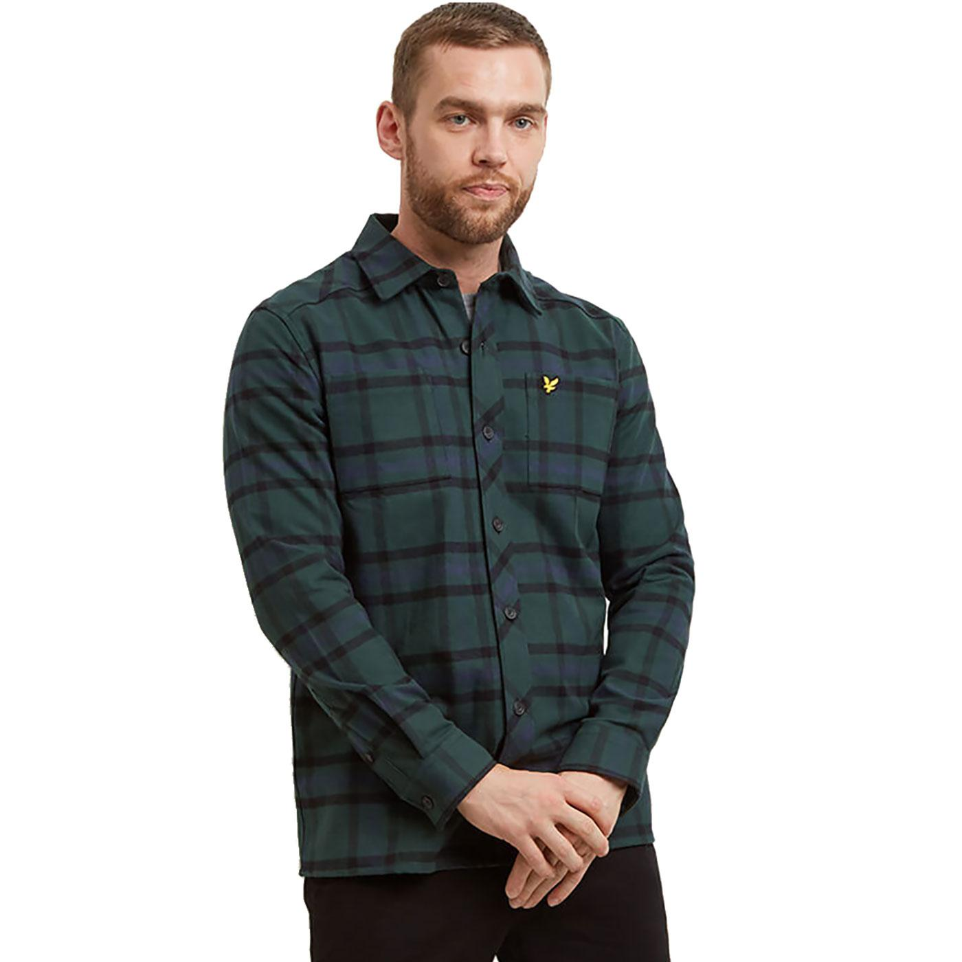 LYLE & SCOTT Retro Indie Tartan Check Overshirt JG