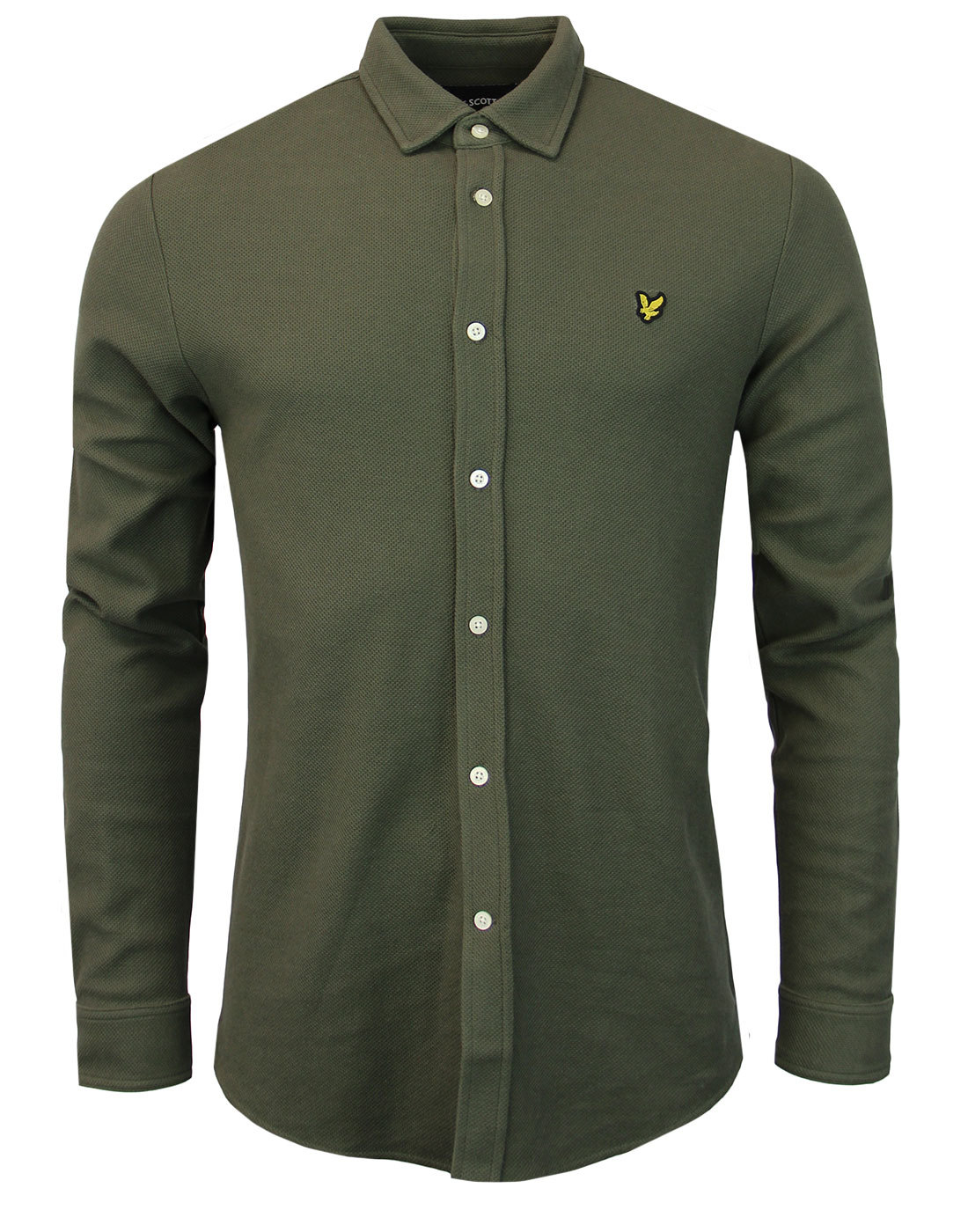 LYLE & SCOTT Retro Mod Honeycomb Jersey Shirt (O)