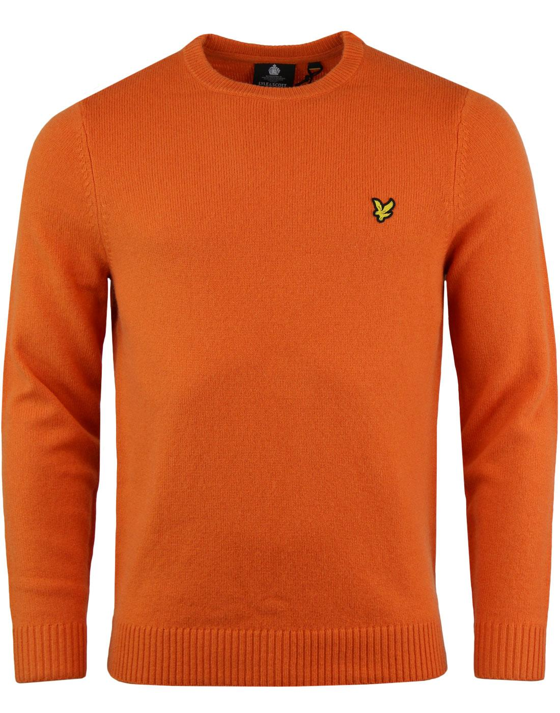 LYLE & SCOTT Mod Lambswool Blend Jumper FOX ORANGE