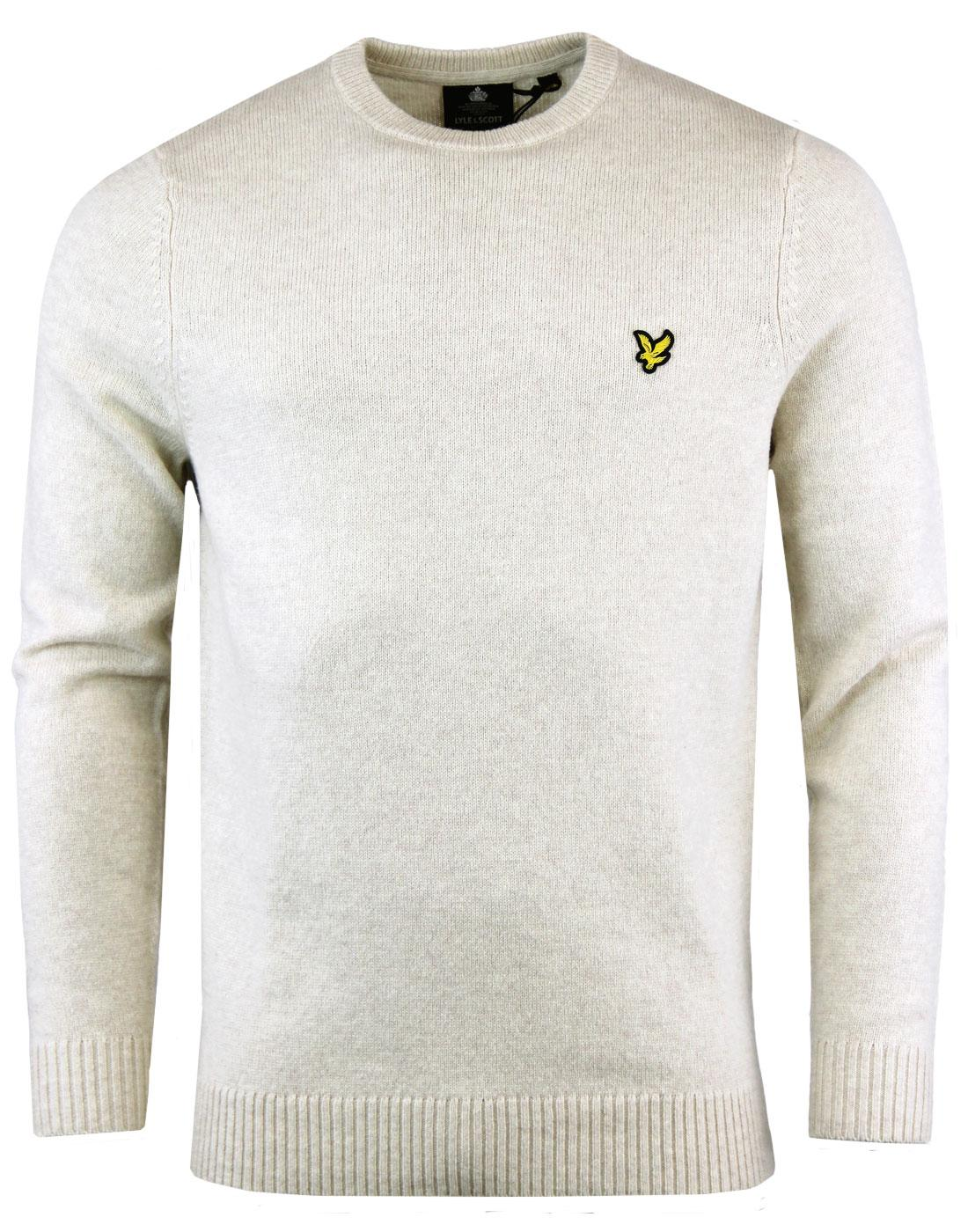 LYLE & SCOTT Mod Lambswool Blend Jumper SANDY MARL