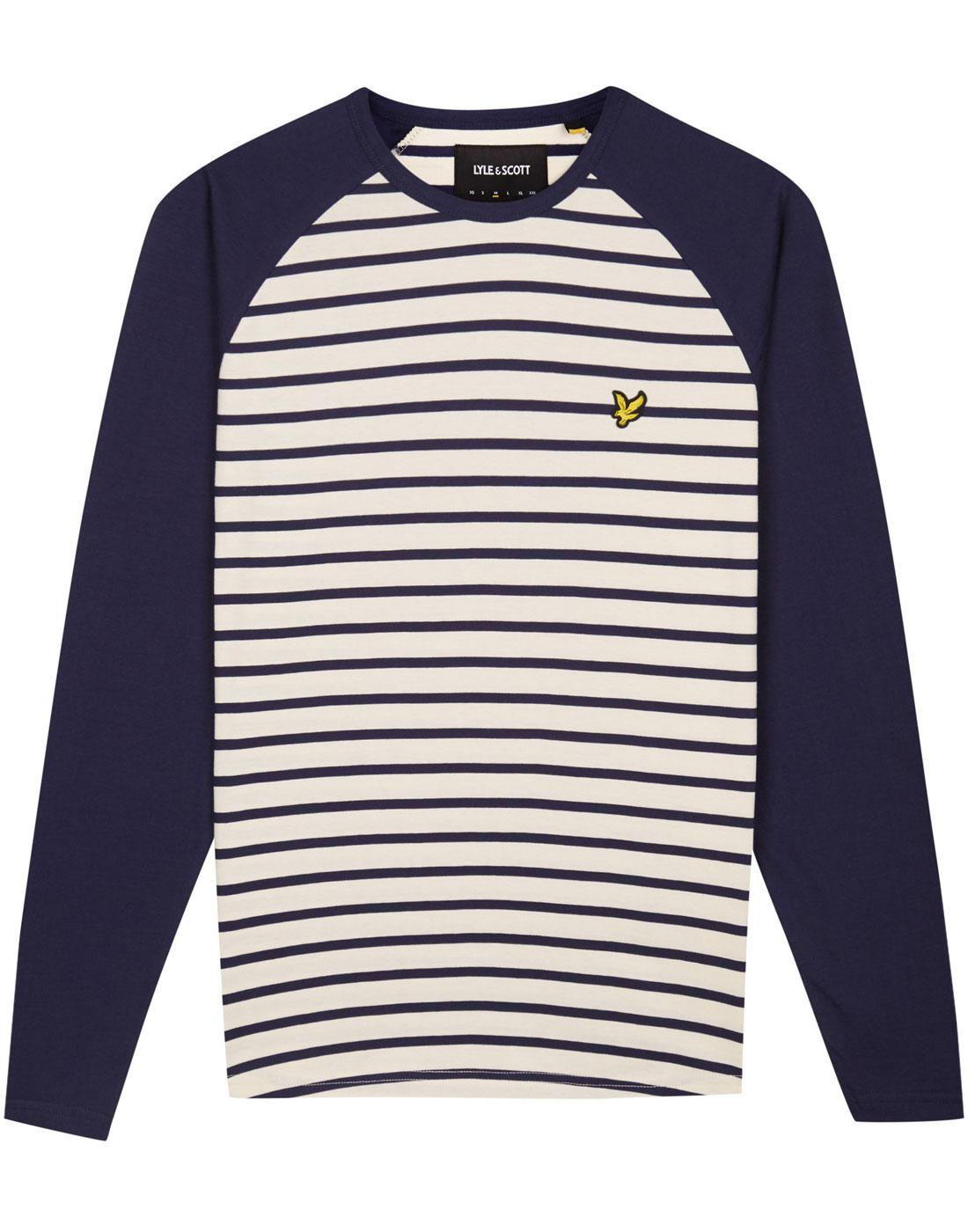 LYLE & SCOTT Retro Mod Breton Stripe Baseball Tee
