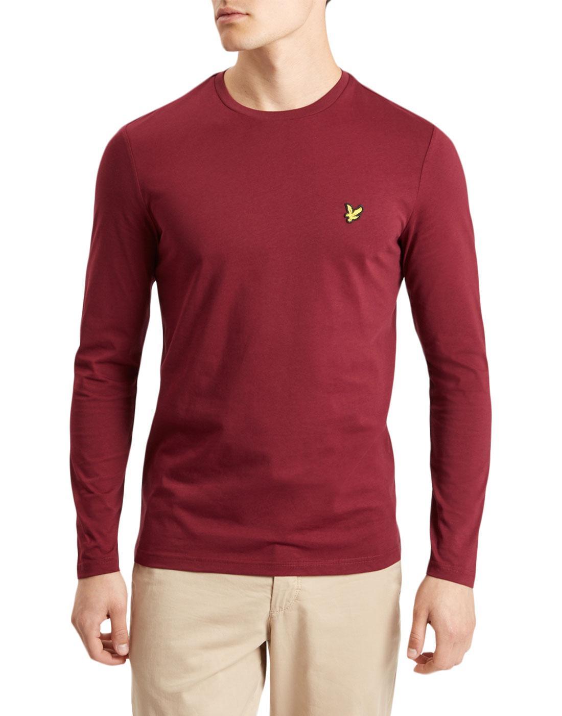 LYLE & SCOTT Men's Retro LS Crew Neck T-Shirt (CJ)