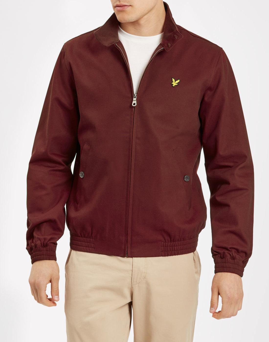 LYLE & SCOTT Retro Mod Harrington Jacket CLARET