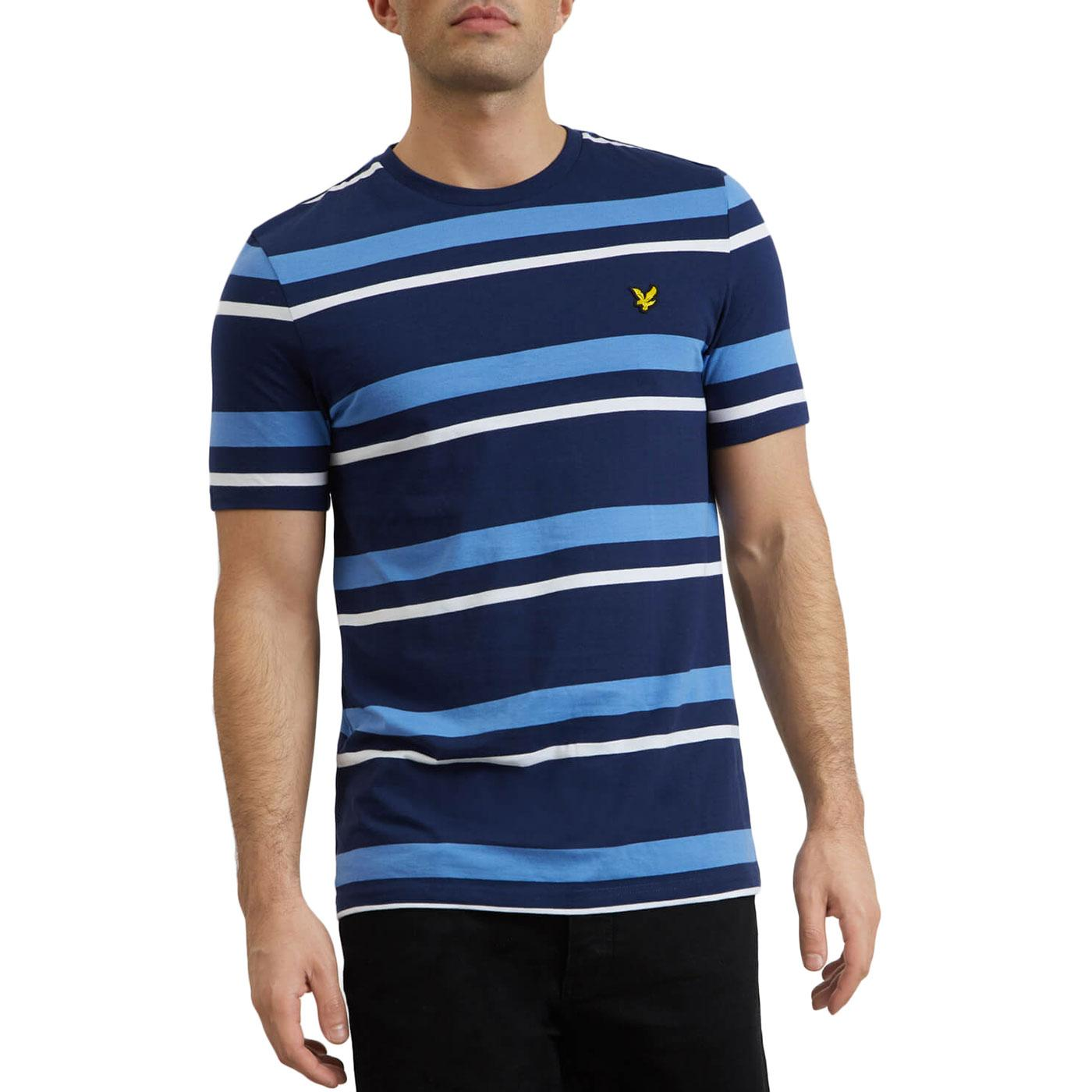 LYLE & SCOTT Retro Mod Multi Stripe T-shirt (Navy)