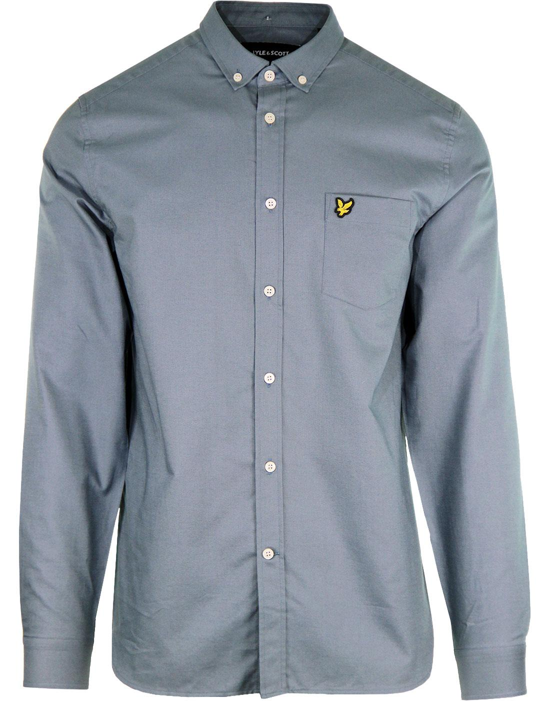 LYLE & SCOTT 60's Mod Button Down Oxford Shirt BL