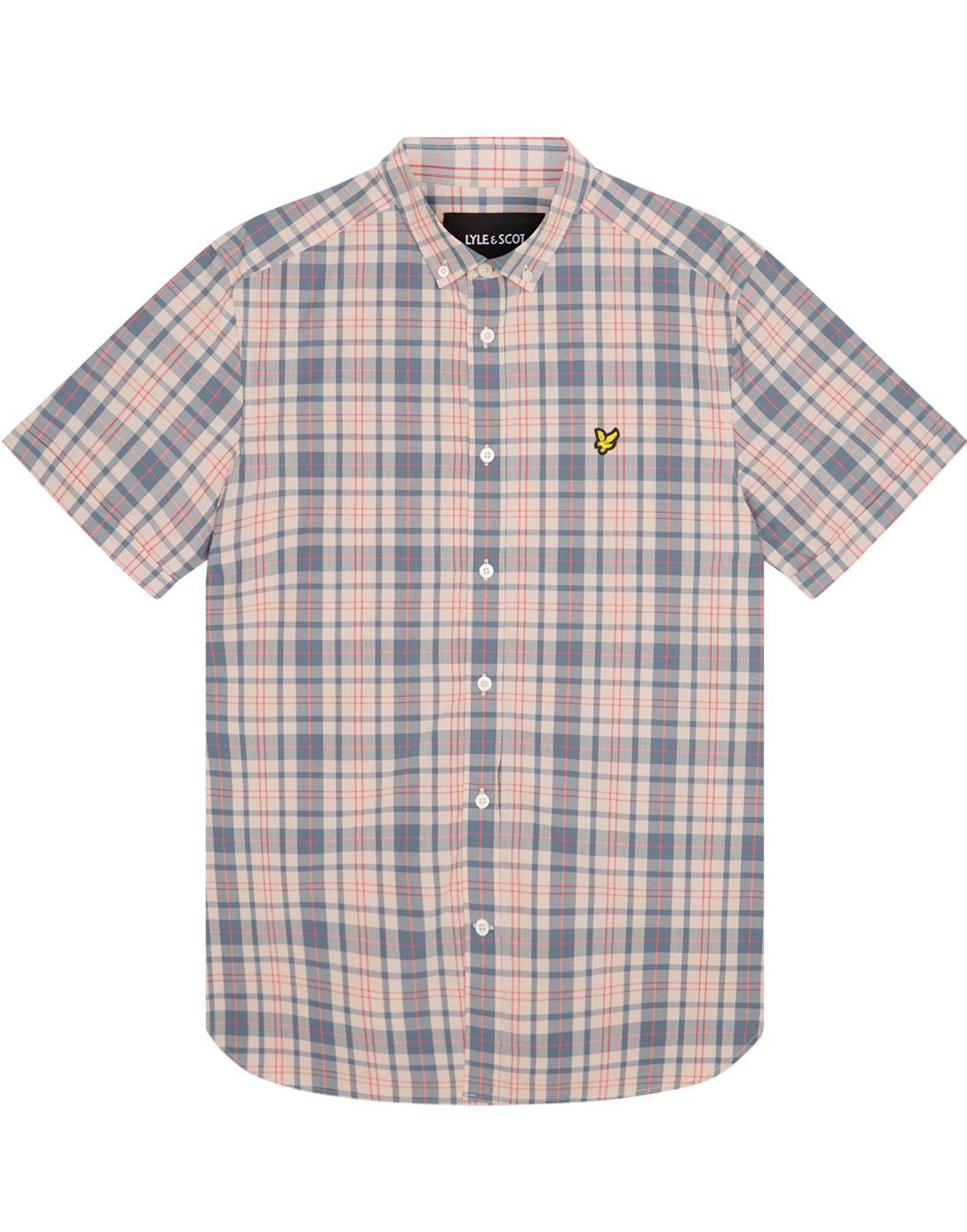 LYLE & SCOTT Retro Mod SS Plaid Check Shirt (DP)