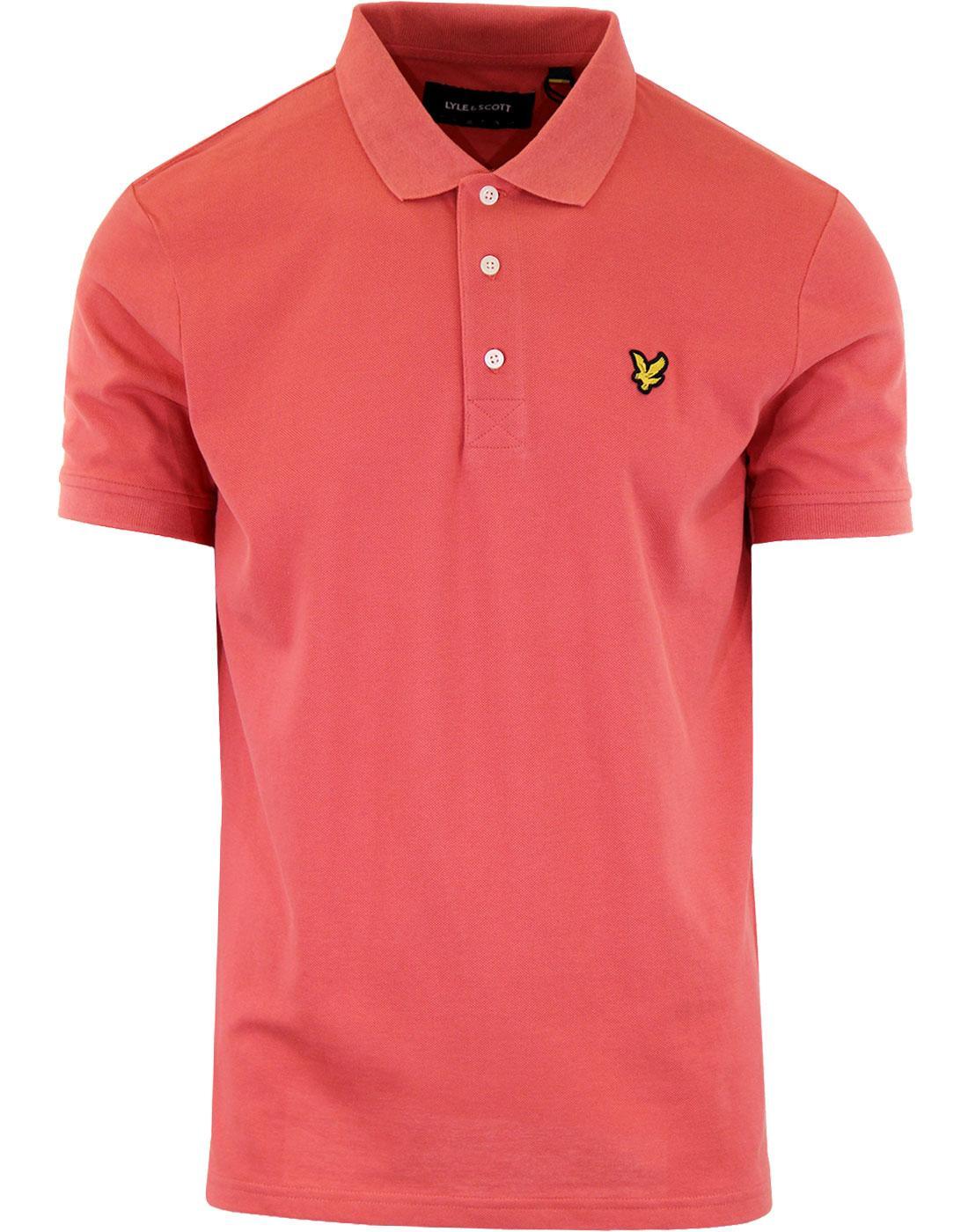 LYLE & SCOTT Mod Pique Polo Shirt (Sunset Pink)