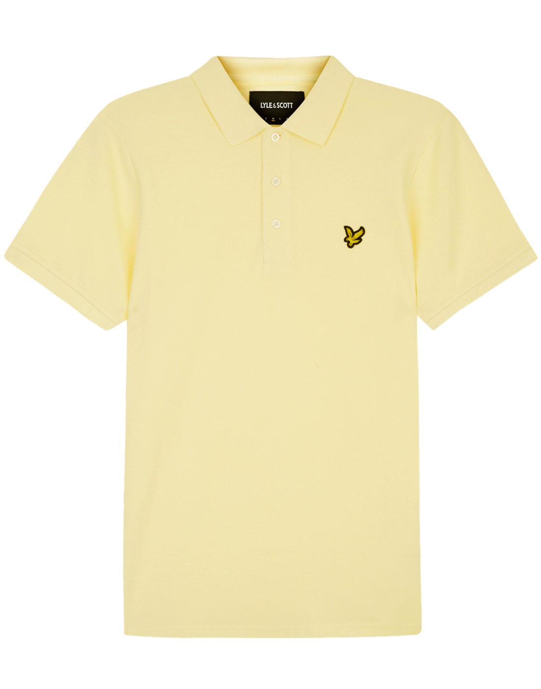 LYLE & SCOTT Mod Pique Polo Shirt (Buttercream)