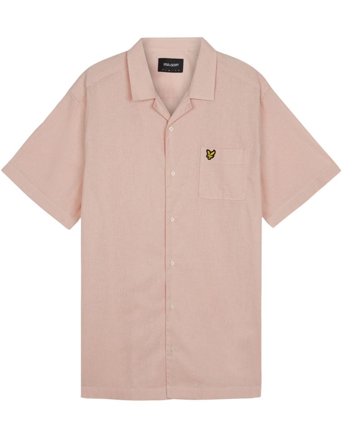LYLE & SCOTT Retro 50s Resort Collar Shirt (Pink)
