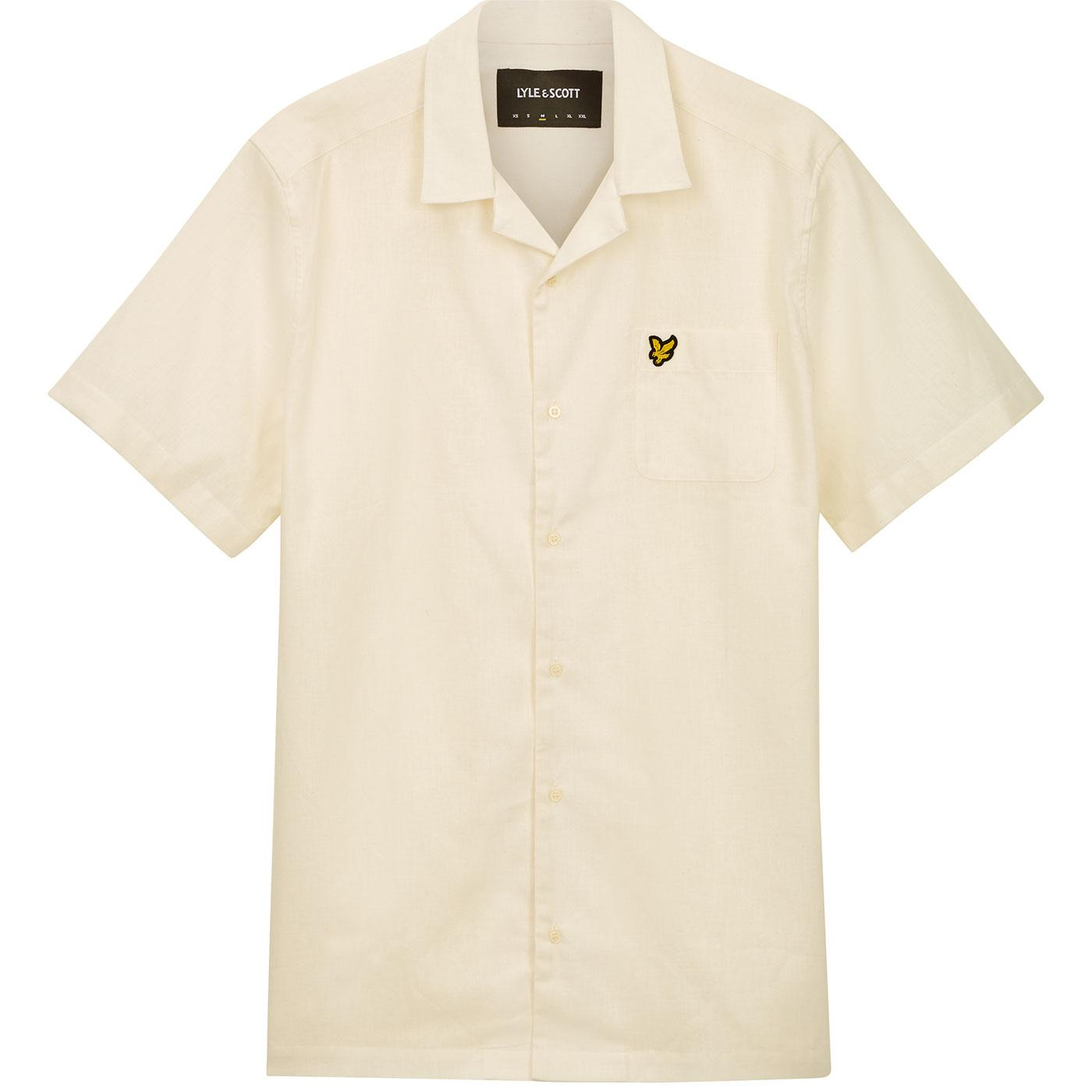LYLE & SCOTT Retro 1970s Linen Resort Shirt (SW)