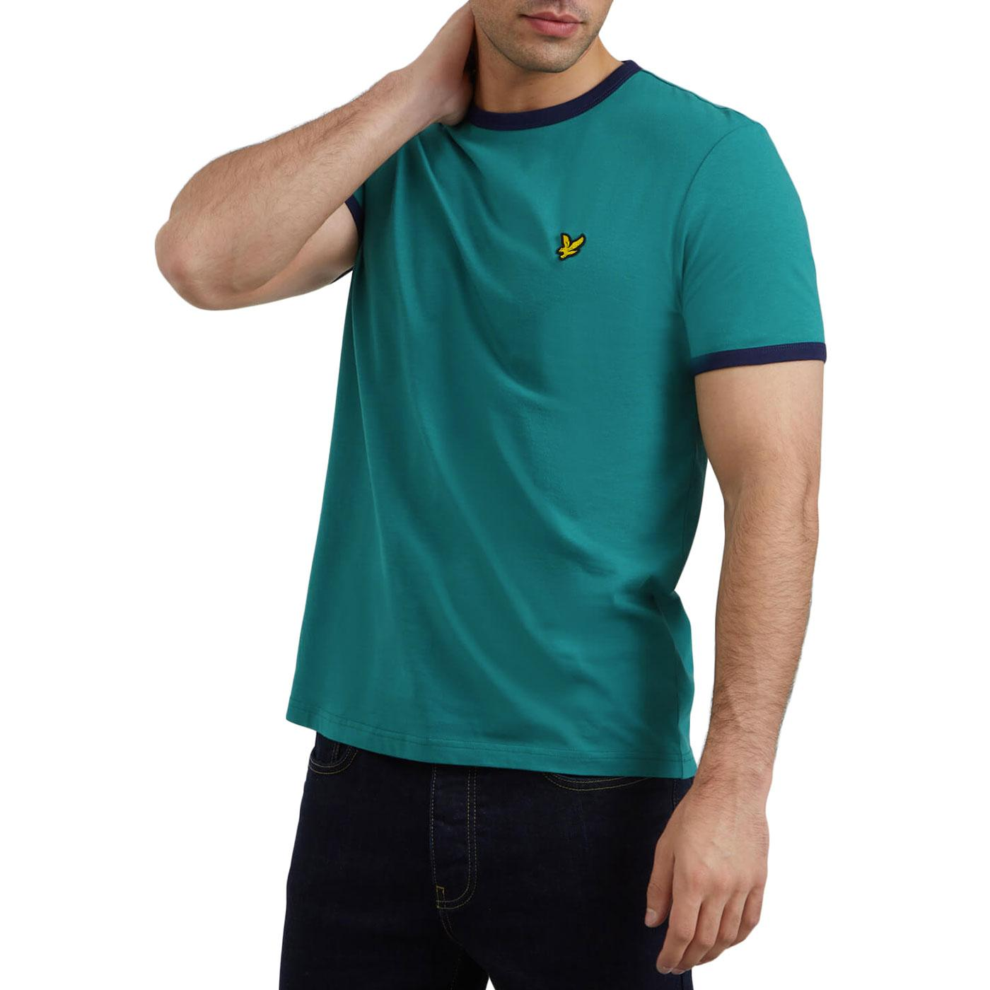 LYLE & SCOTT Retro Mod Ringer T-Shirt ALPINE GREEN