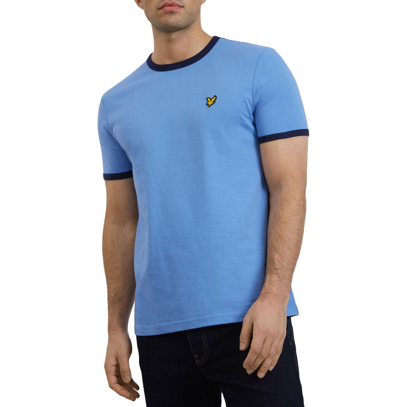 LYLE & SCOTT Retro Mod Ringer T-Shirt (Cornflower)