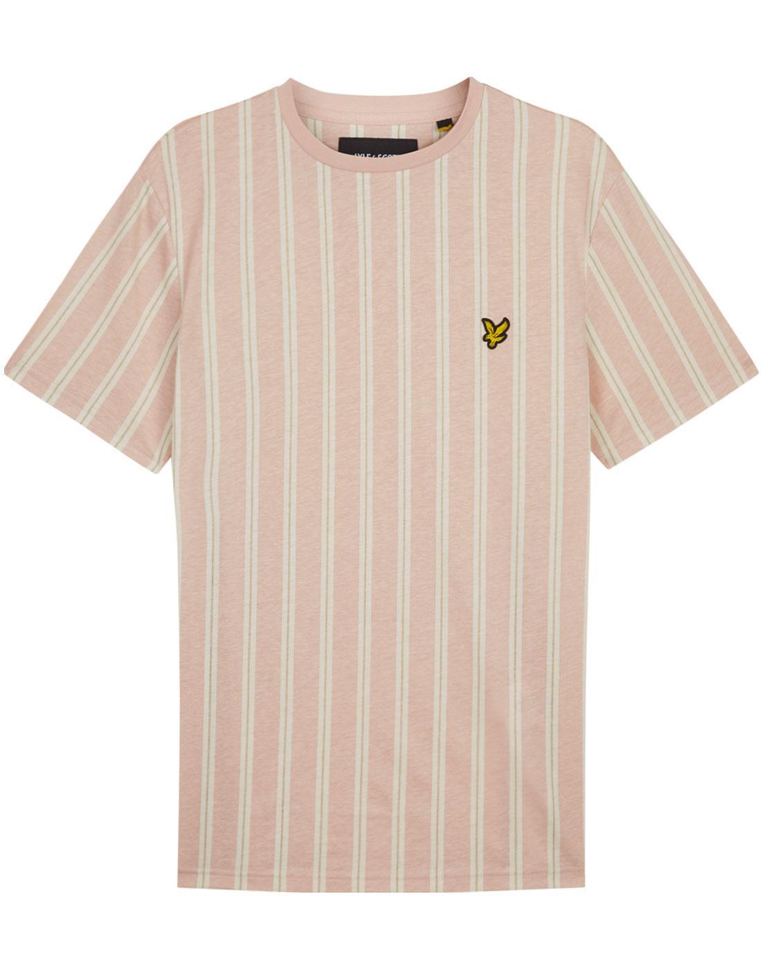 55027a7f LYLE & SCOTT Men's 1960s Mod Deckchair Stripe T-Shirt (DP)