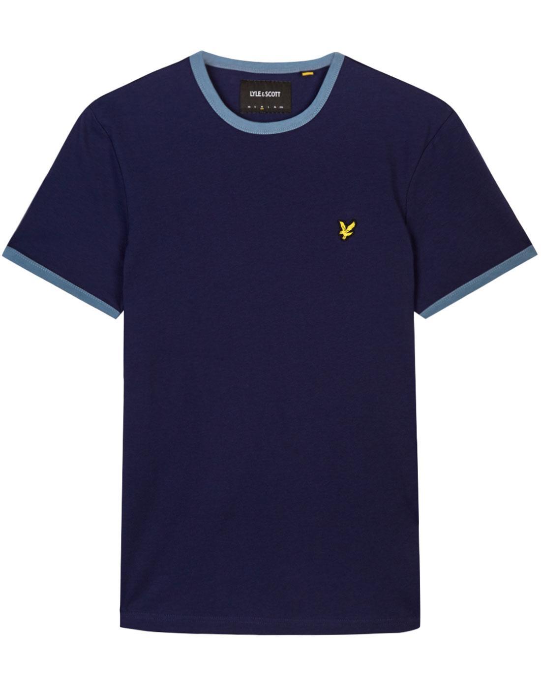 LYLE & SCOTT Men's Retro 70s Ringer T-Shirt (Navy)