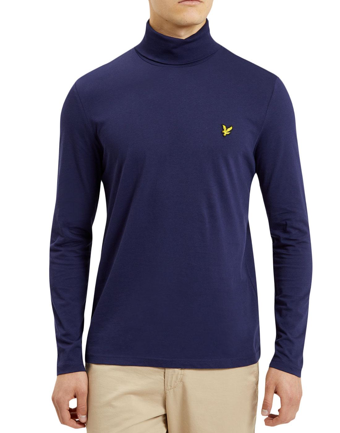 LYLE & SCOTT Retro Mod Roll Neck T-Shirt (Navy)