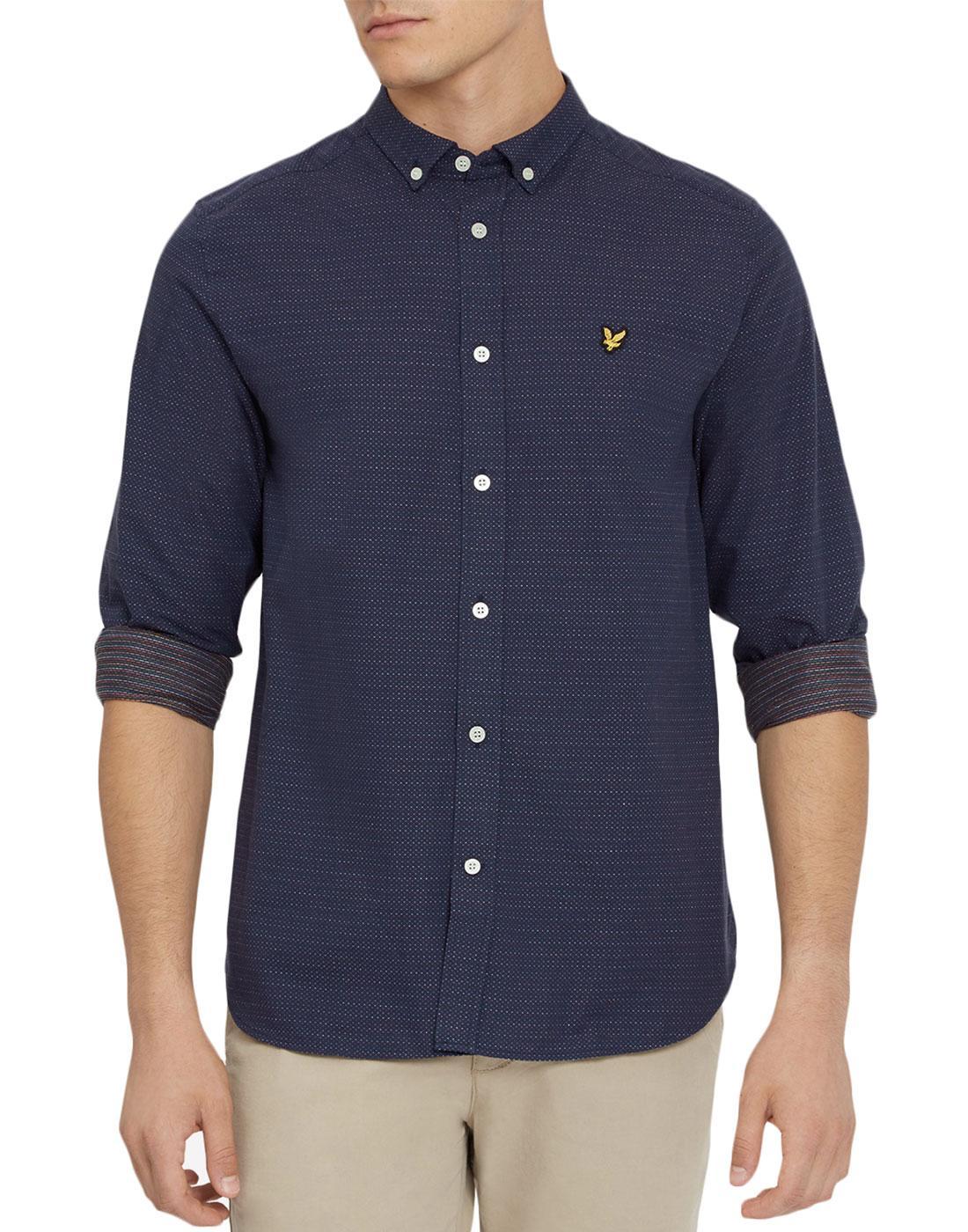 LYLE & SCOTT Retro Jacquard Running Stitch Shirt