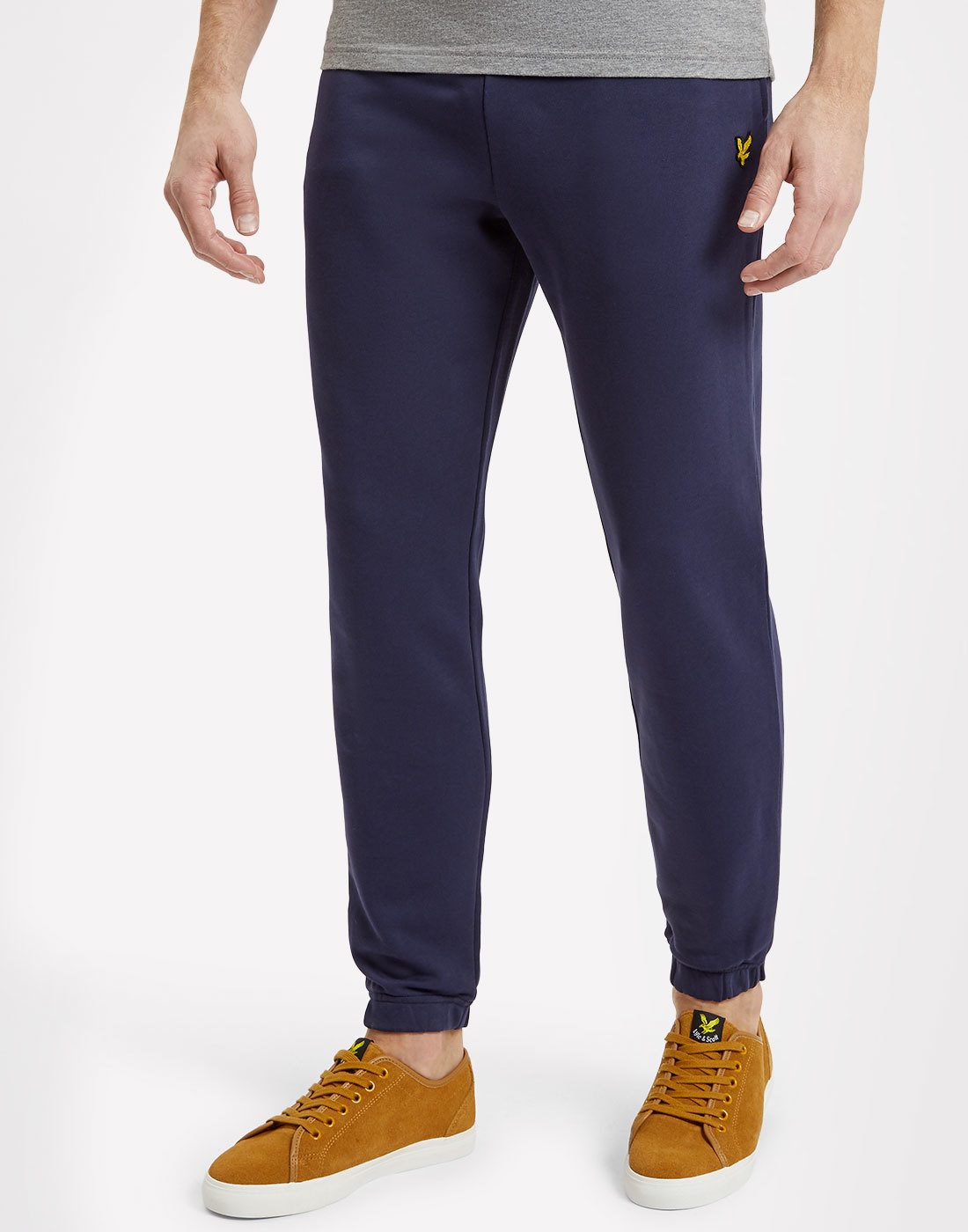 LYLE & SCOTT Retro Slim Jogger Track Bottoms NAVY