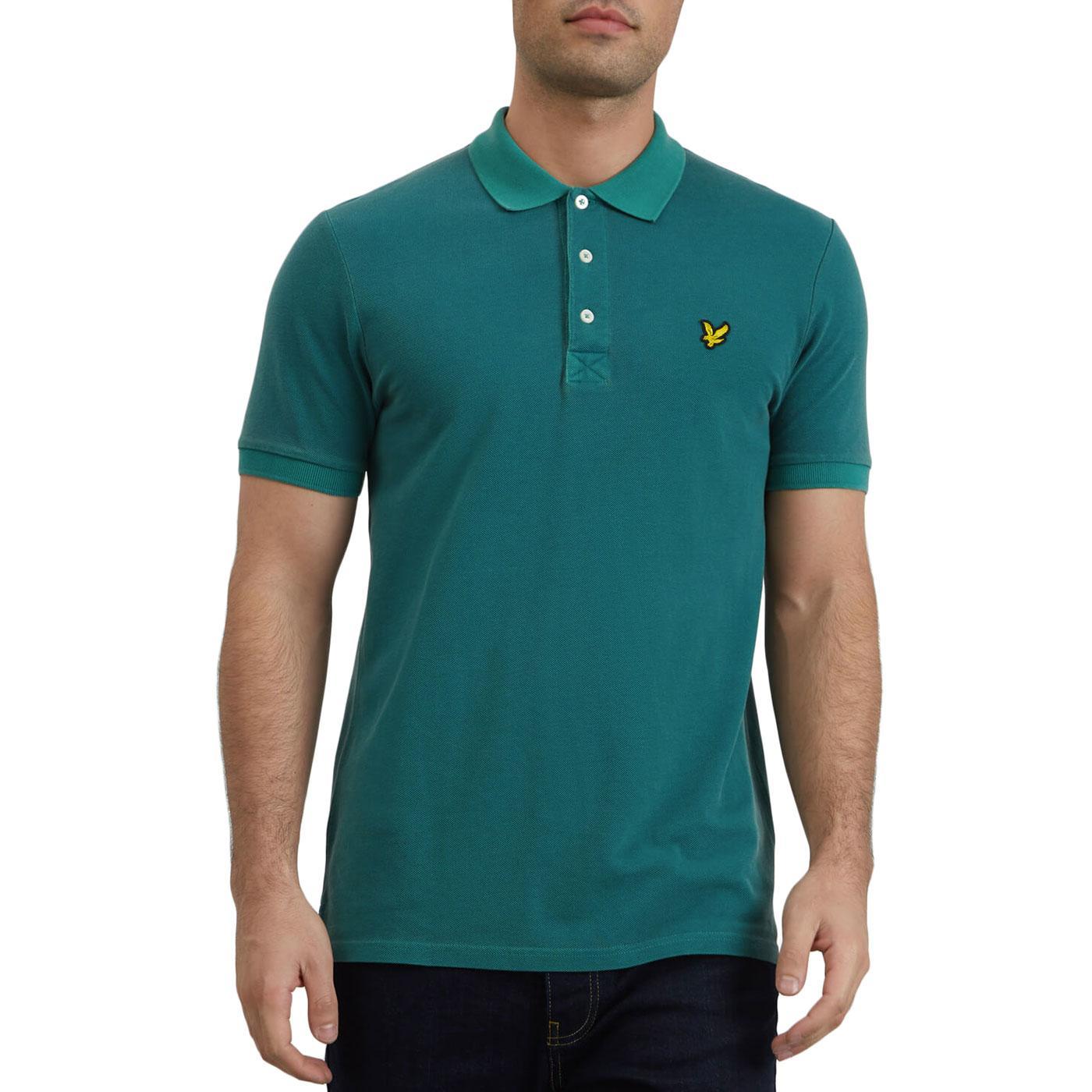 LYLE & SCOTT Mod Snow Wash Pique Polo Shirt (AG)