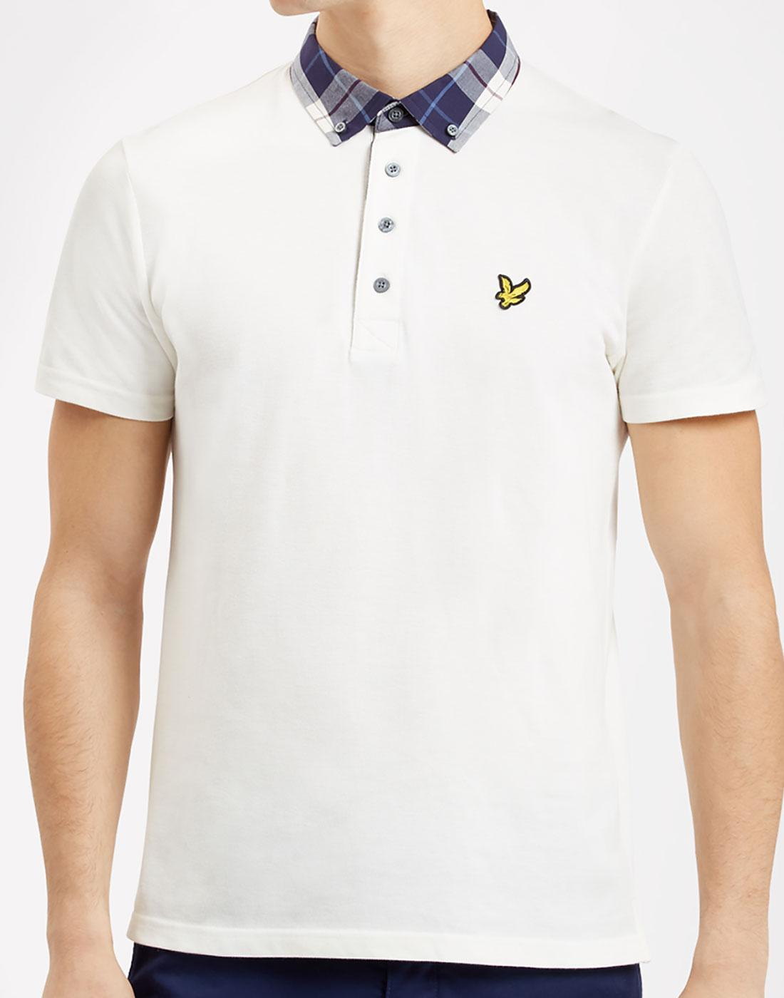 Check Woven Collar LYLE & SCOTT Mod Polo Shirt.