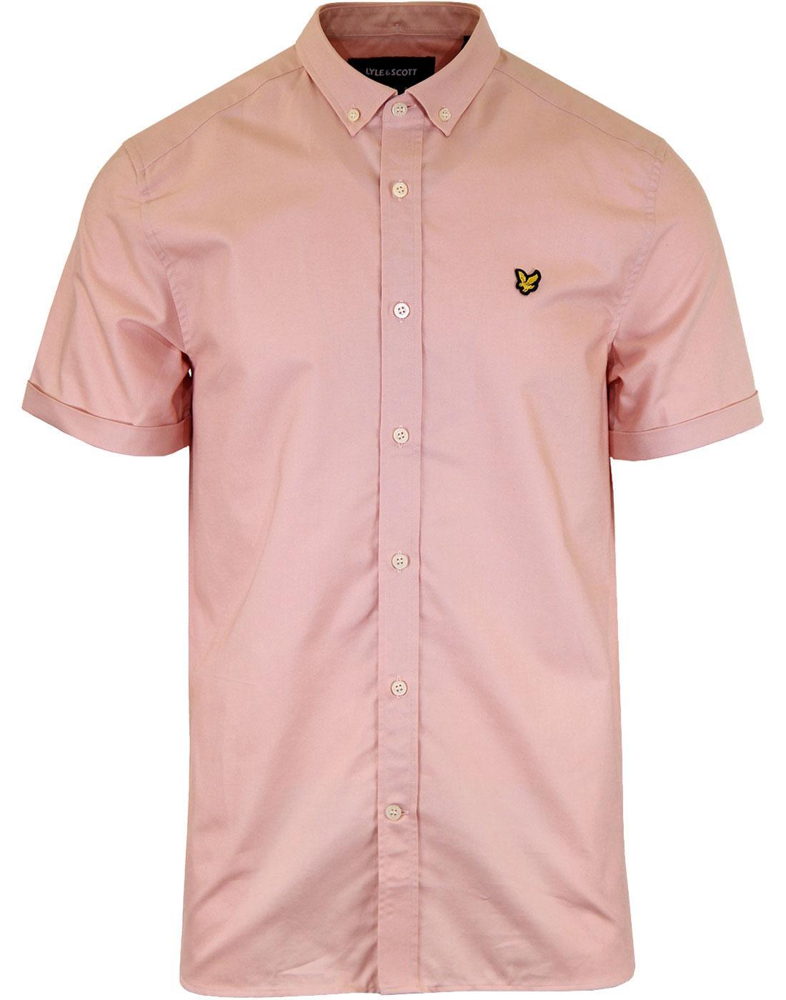 LYLE & SCOTT Mod Button Down SS Oxford Shirt PINK