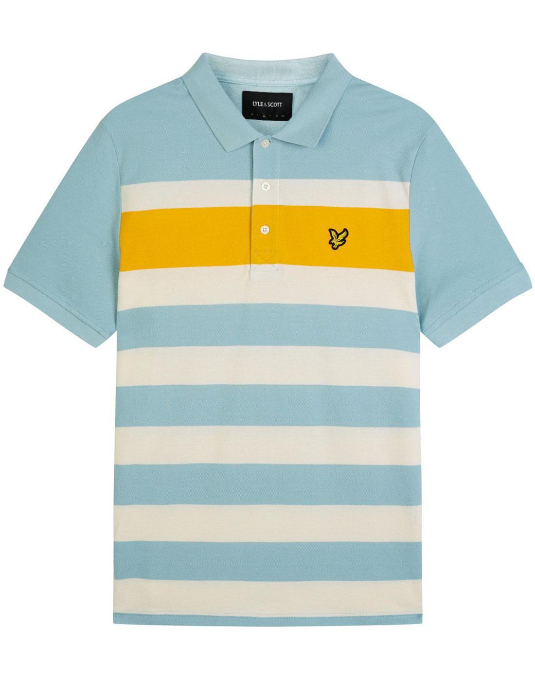 LYLE & SCOTT Mod Textured Stripe Panel Polo Shirt