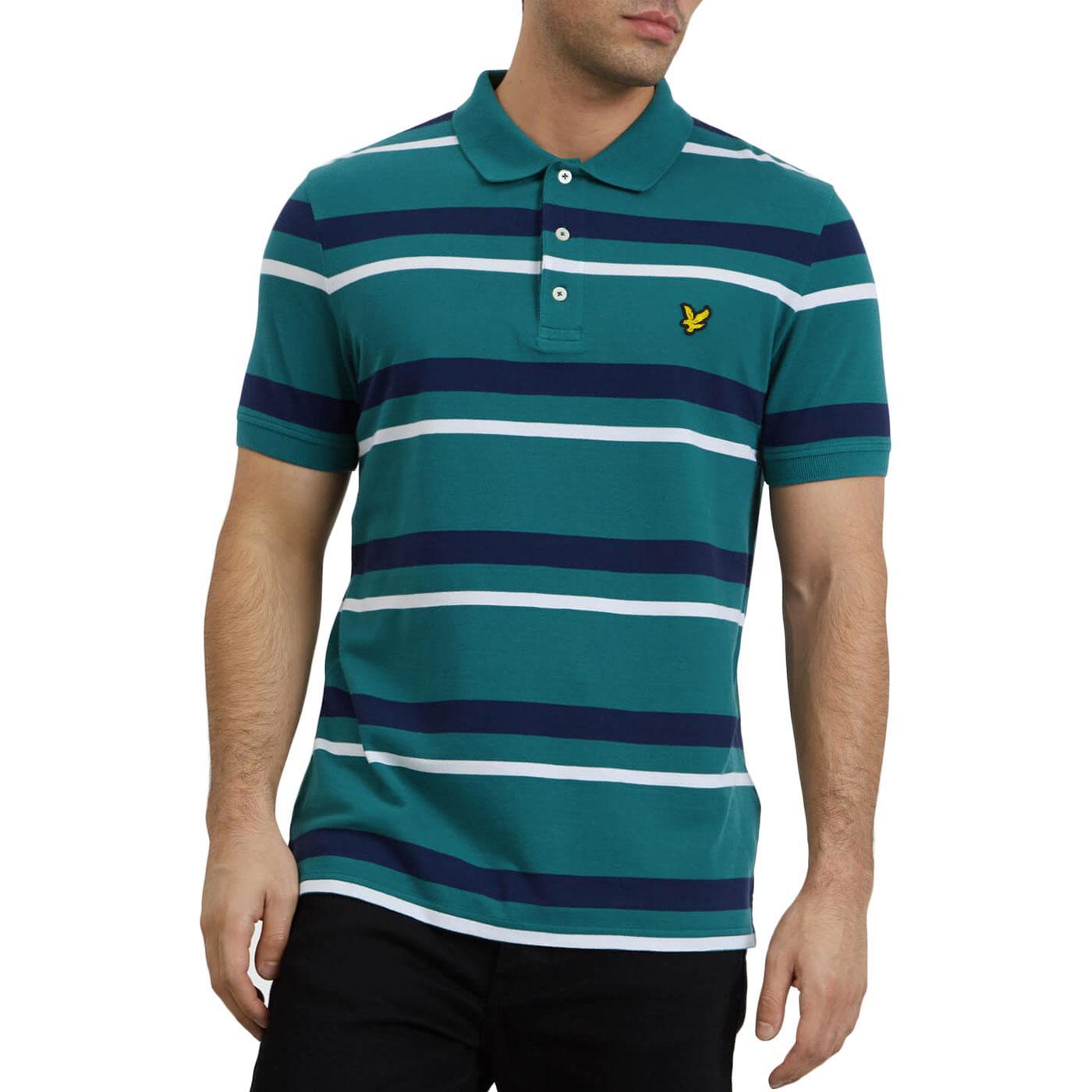 LYLE & SCOTT Retro Mod Stripe Pique Polo Shirt AG