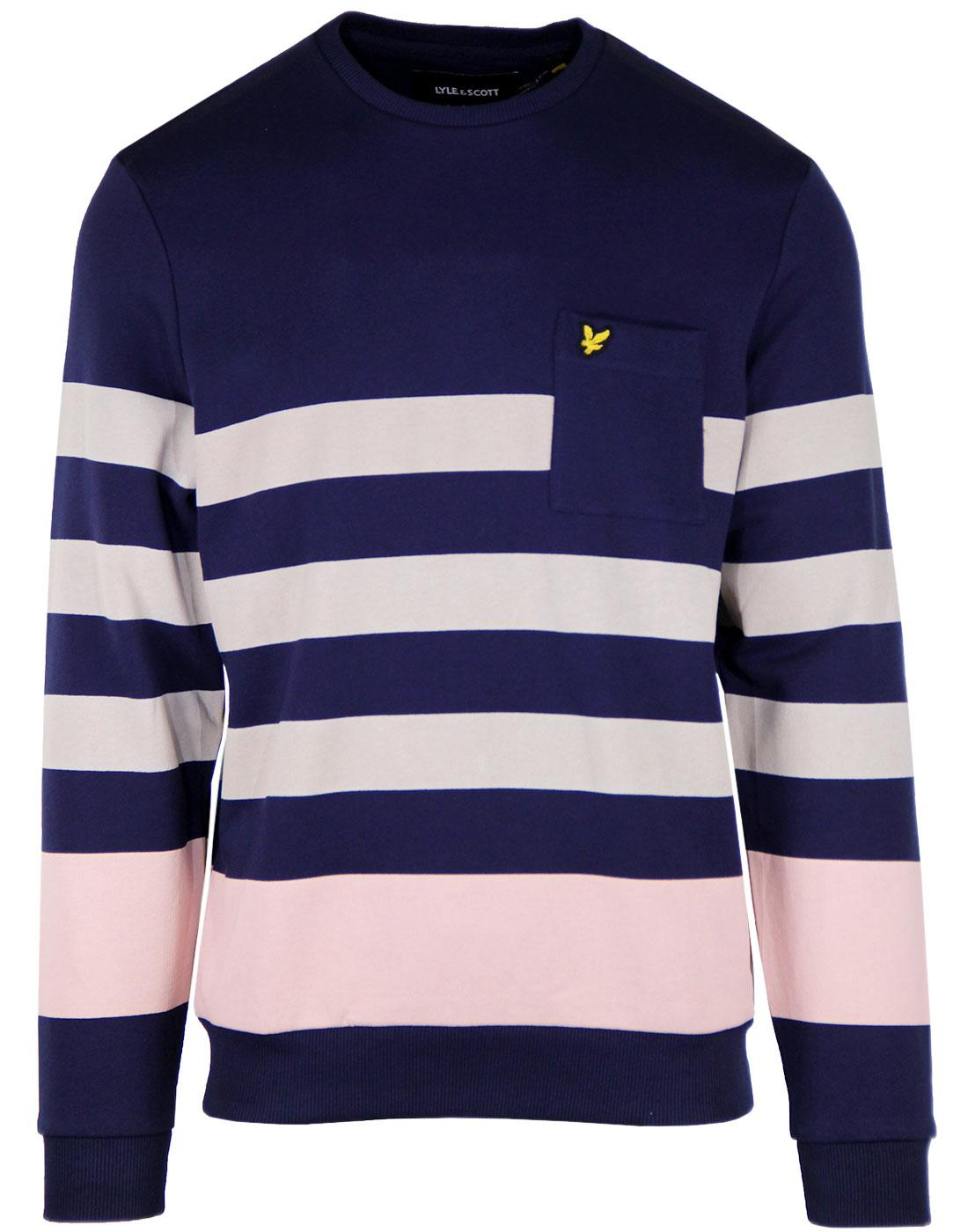LYLE & SCOTT Men's Retro Indie Stripe Sweatshirt N