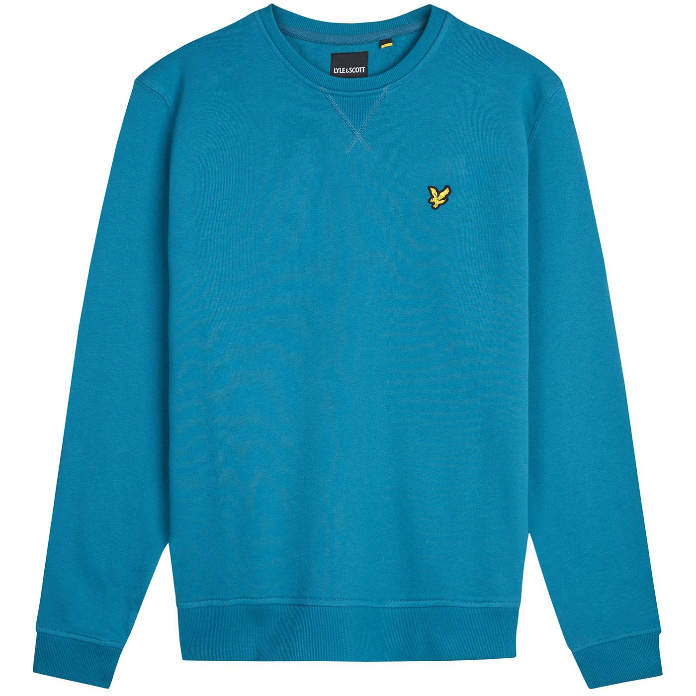 LYLE & SCOTT Mod Crew Neck Sweatshirt PETROL TEAL