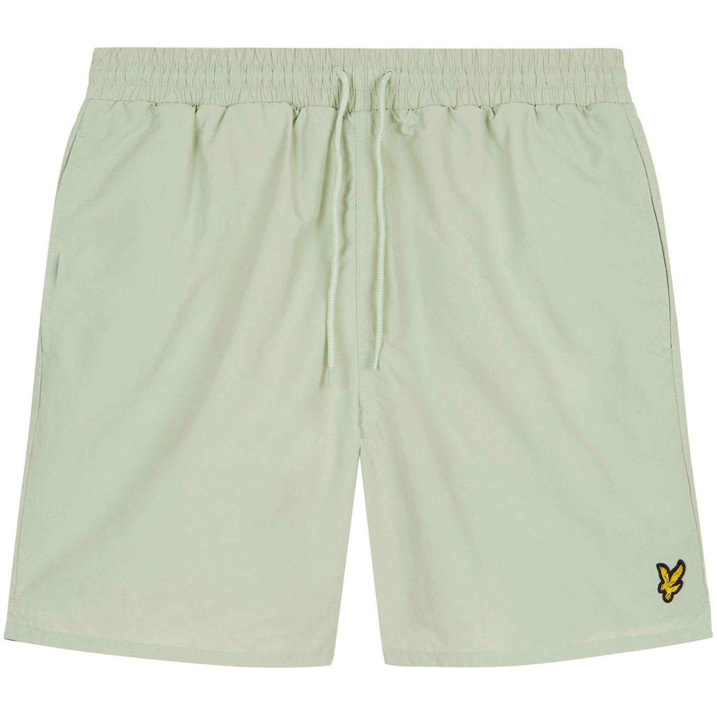 LYLE & SCOTT Retro Plain Swim Shorts (Sea Foam)
