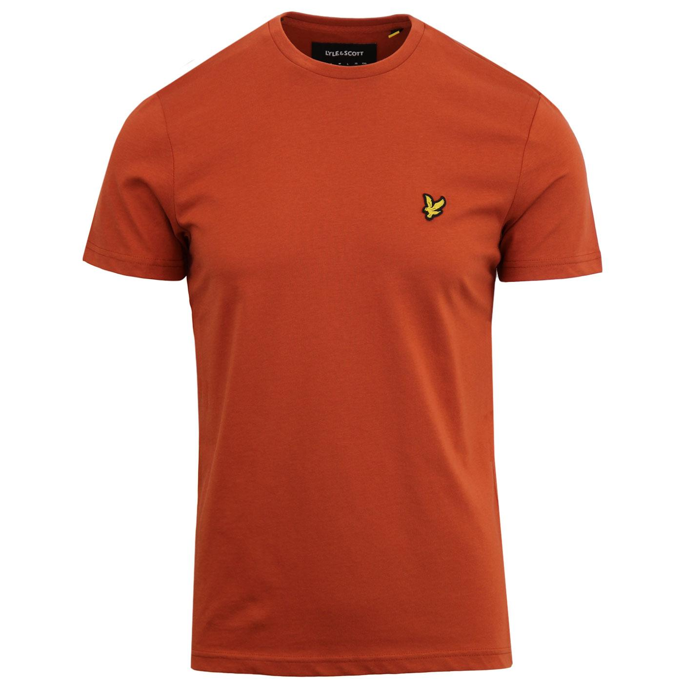 LYLE & SCOTT Men's Crew Neck T-Shirt (Brown Spice)