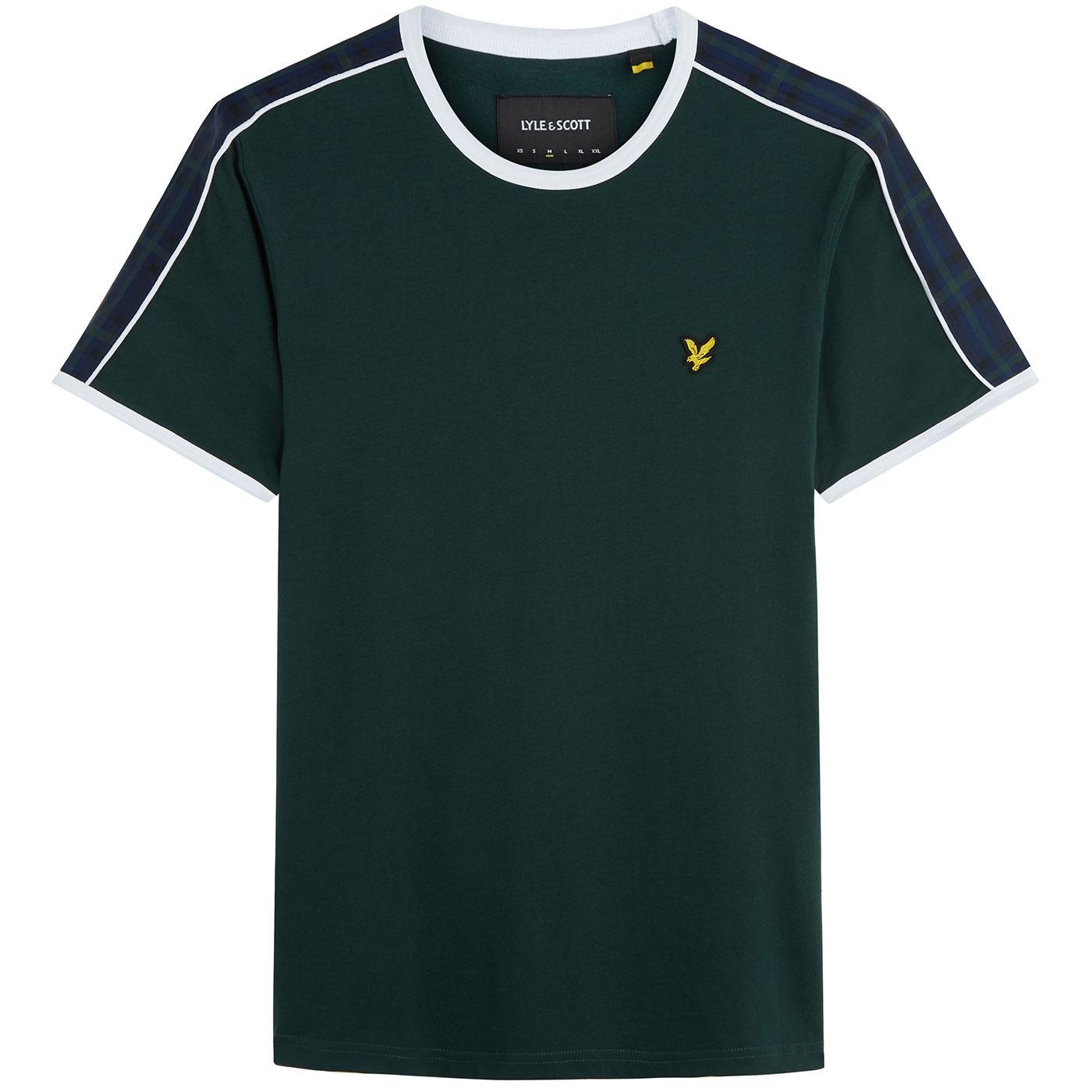 LYLE & SCOTT Retro Taped Sleeve Ringer T-Shirt