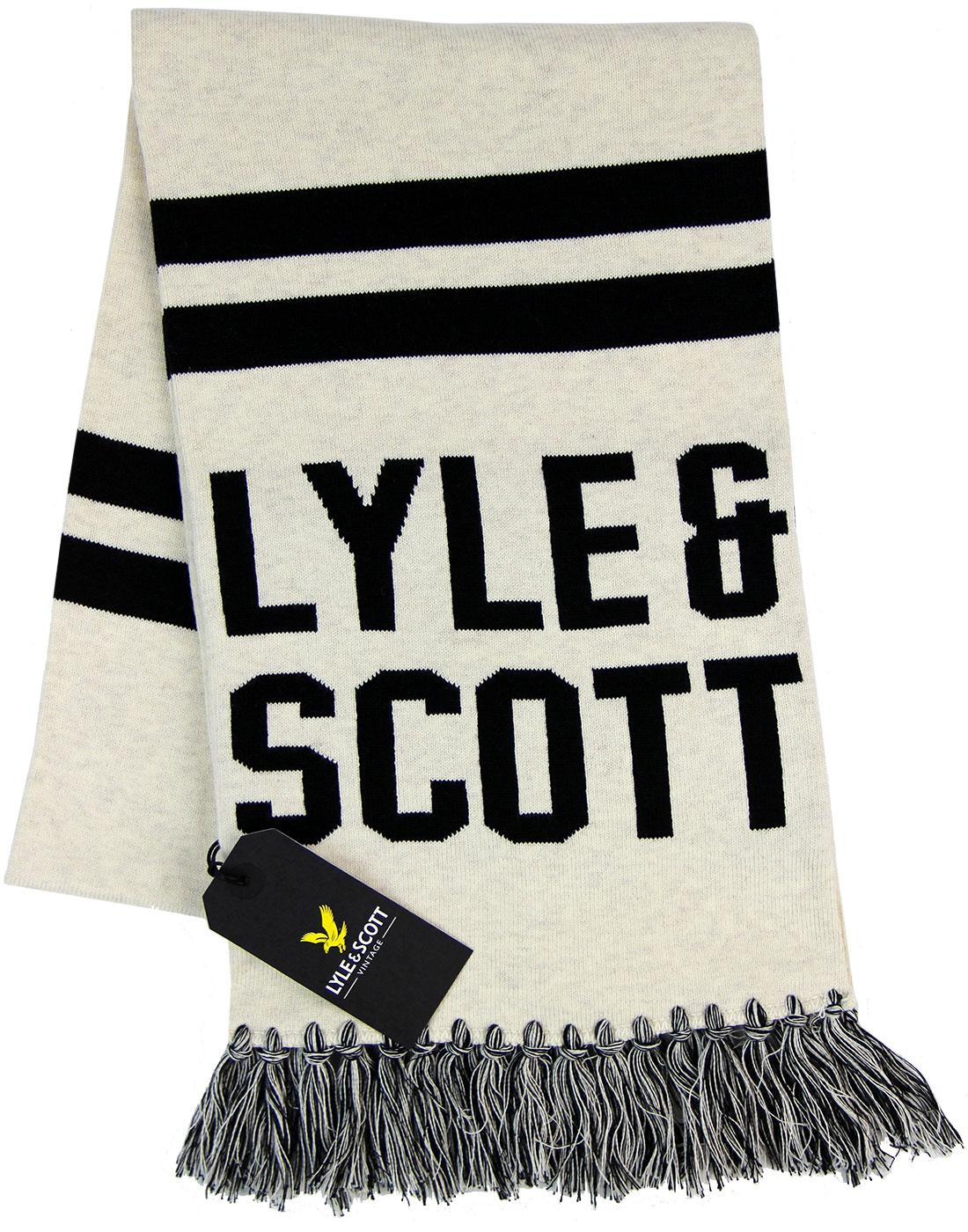 LYLE & SCOTT Retro Text Knit Ivy League Scarf W