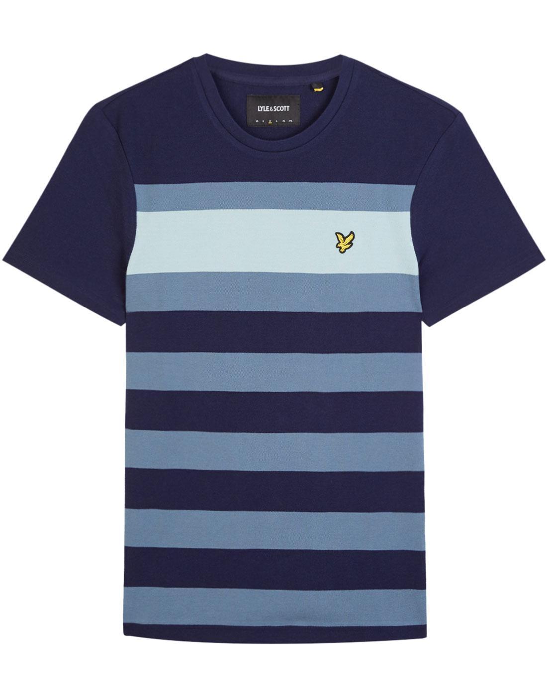 LYLE & SCOTT Retro Mod Textured Stripe T-Shirt (N)