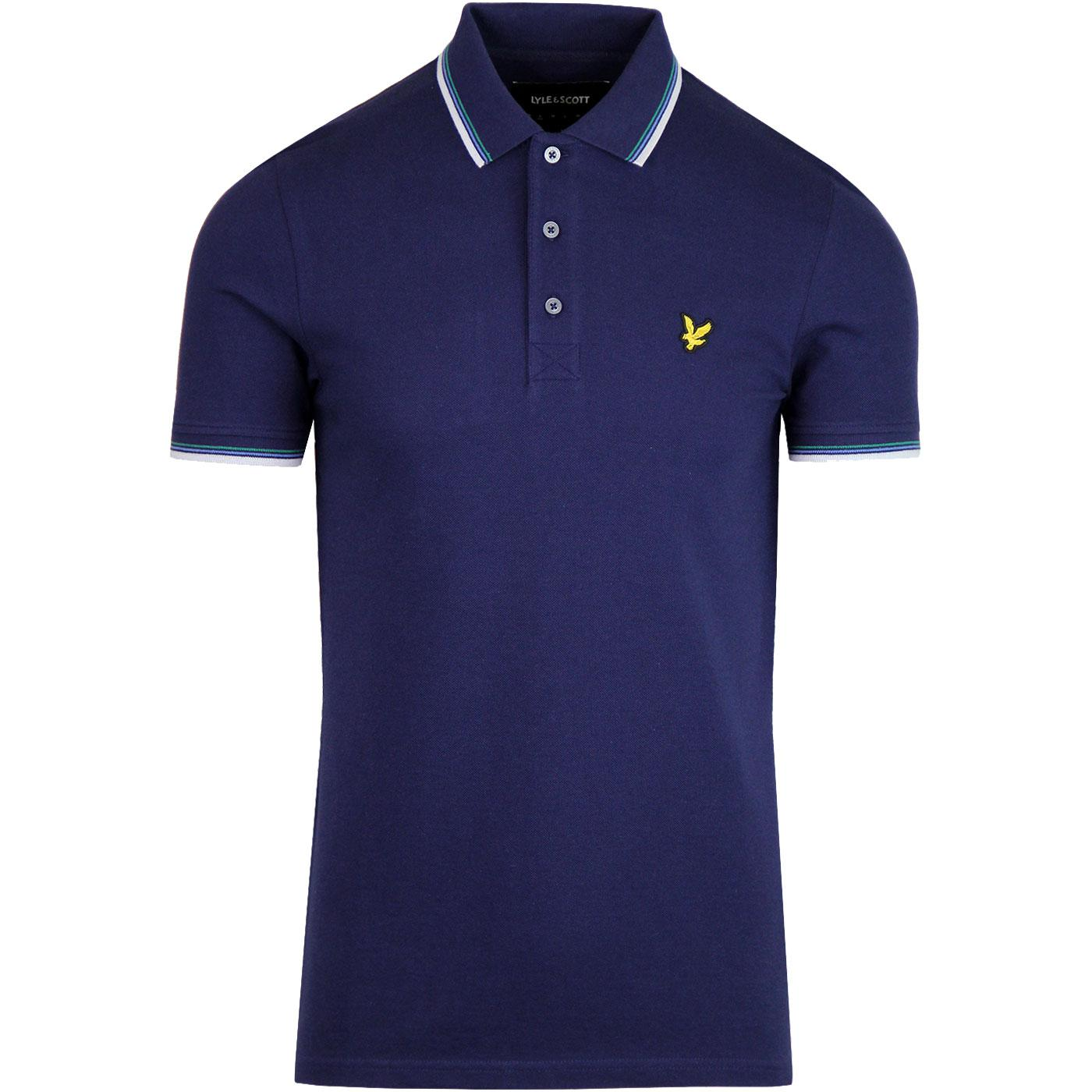 LYLE & SCOTT Men's Tipped Mod Pique Polo - NAVY
