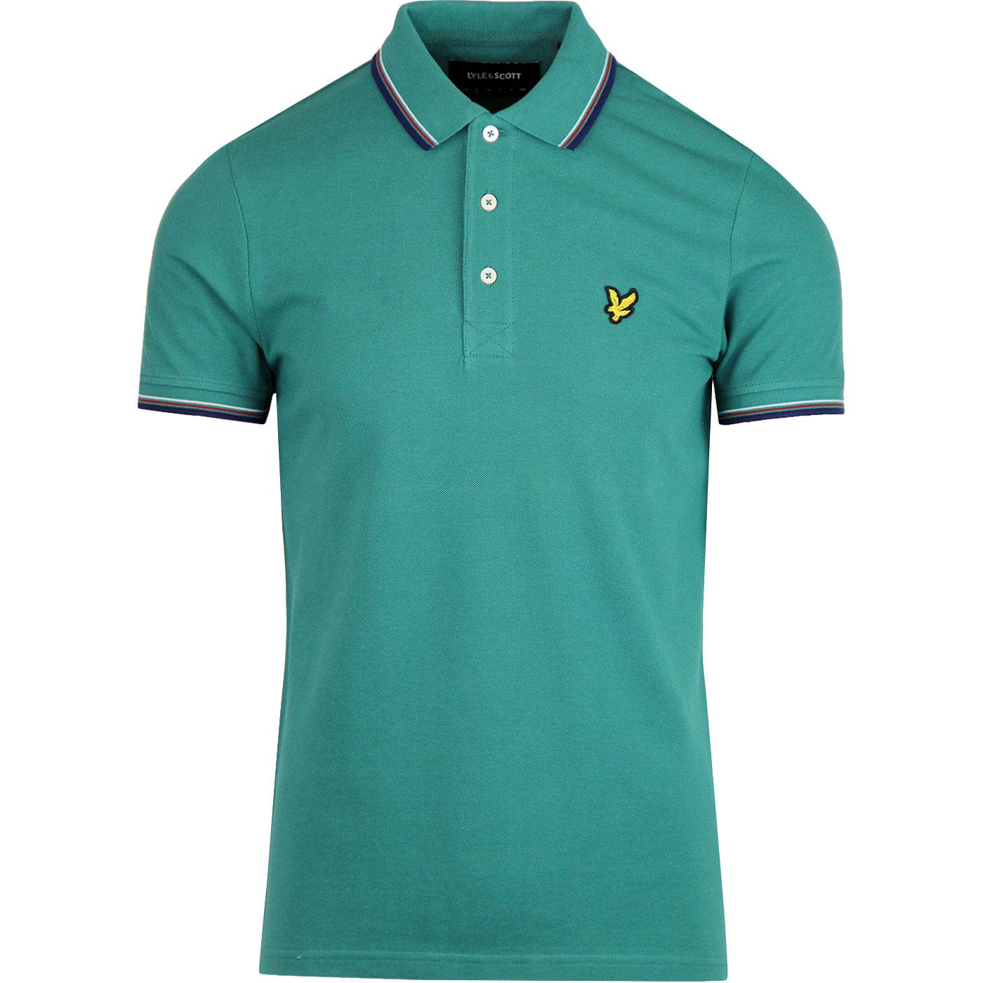 LYLE & SCOTT Men's Tipped Mod Pique Polo - GREEN