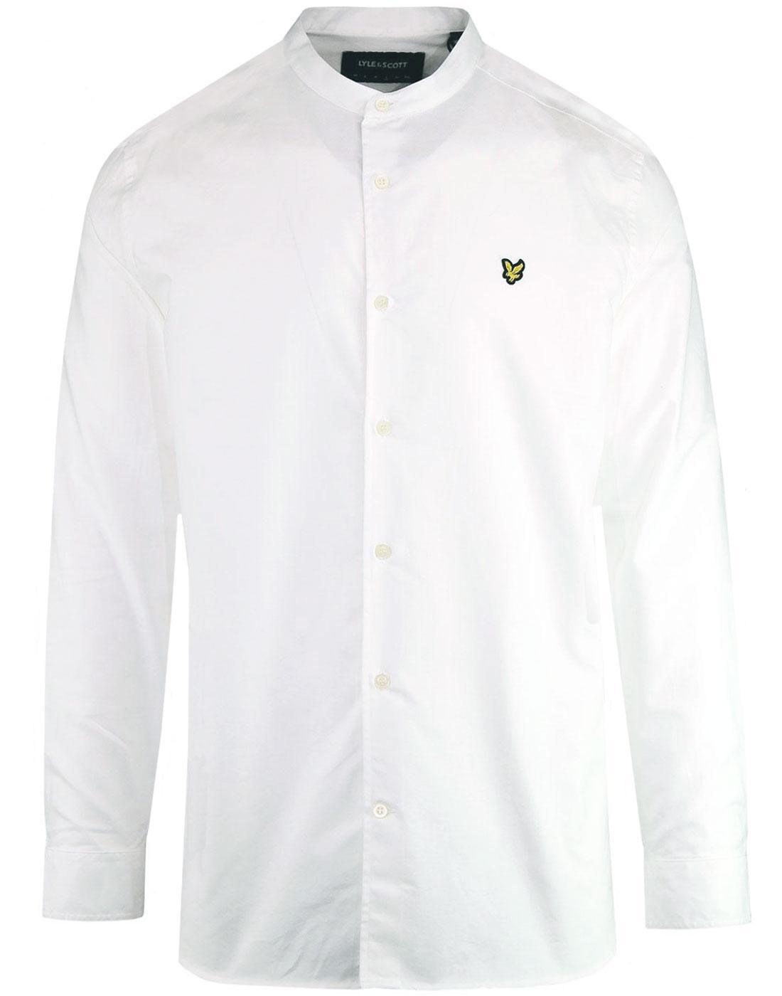 LYLE & SCOTT 60s Mod Grandad Collar Oxford Shirt W