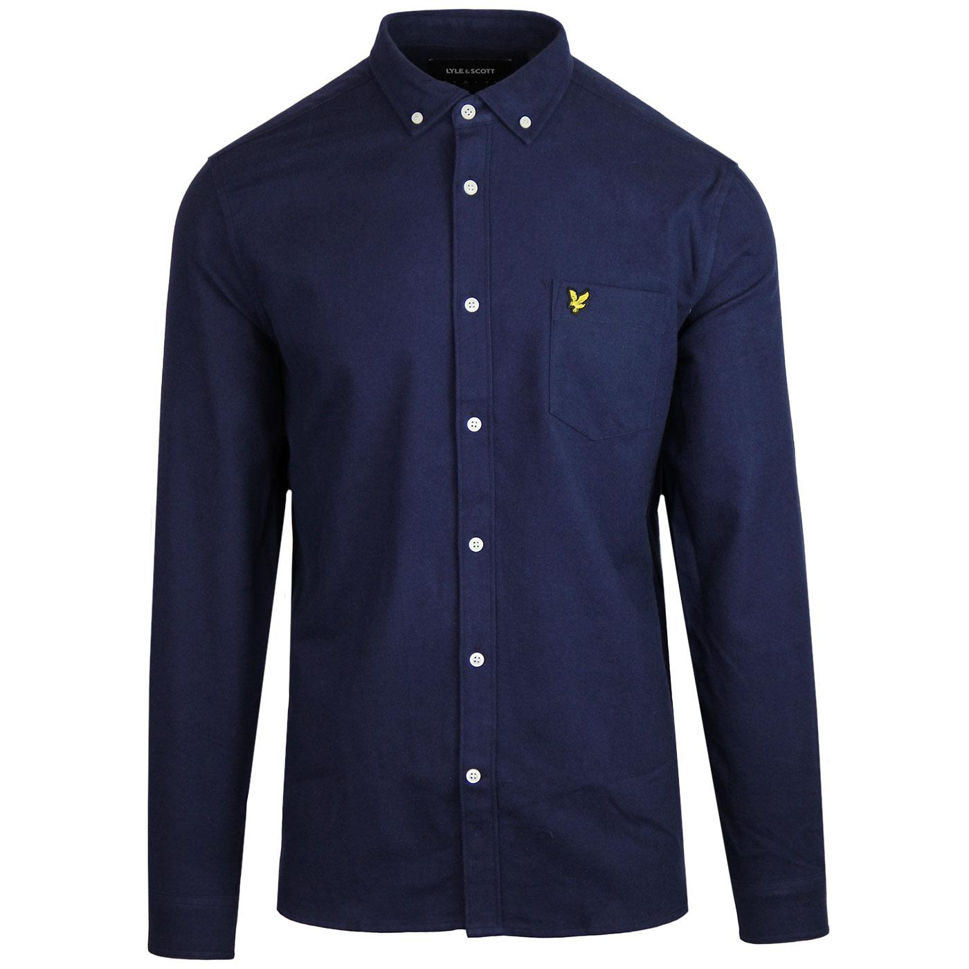 LYLE & SCOTT Retro Mod Winter Flannel Shirt (Navy)