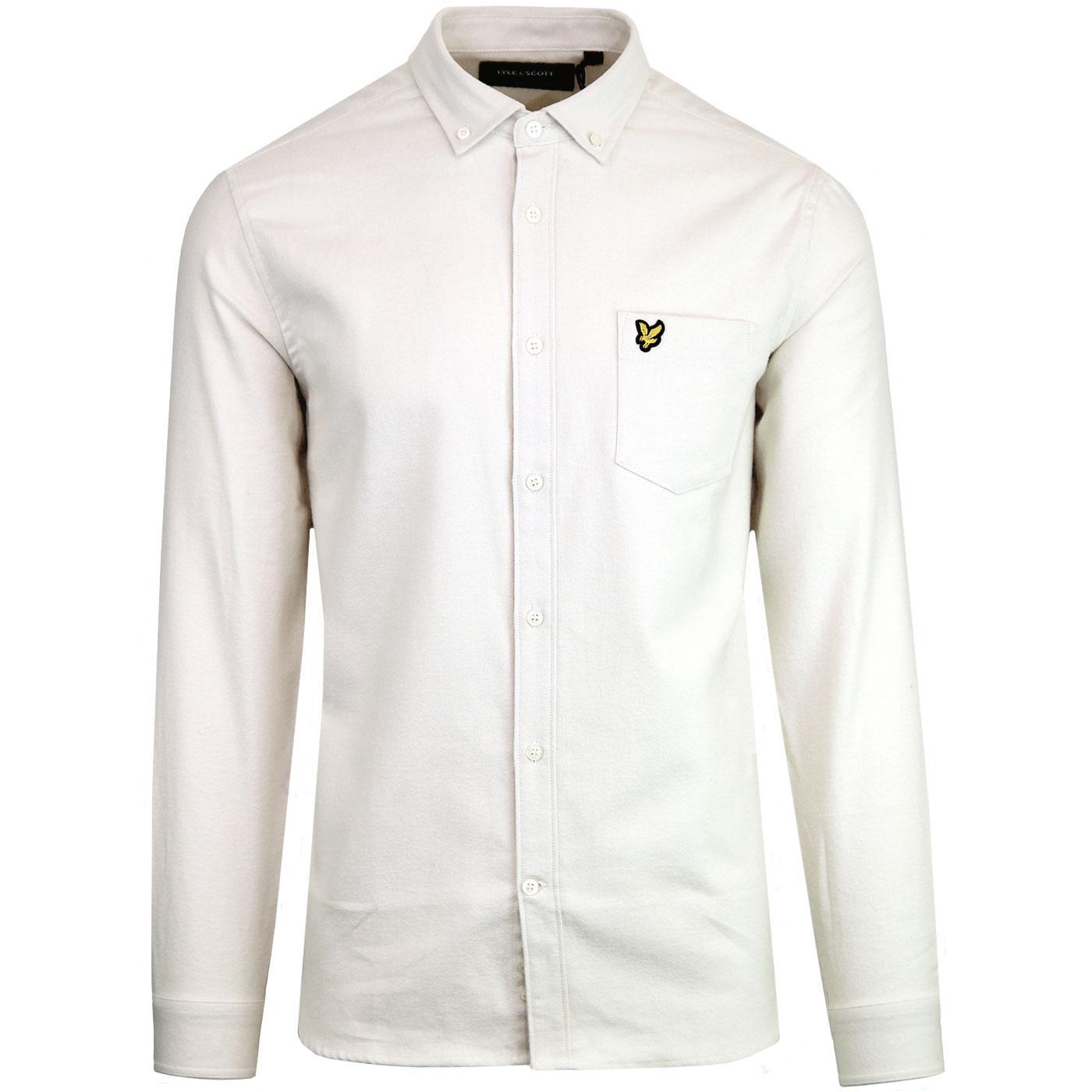 LYLE & SCOTT Winter Flannel Shirt (Seashell White)