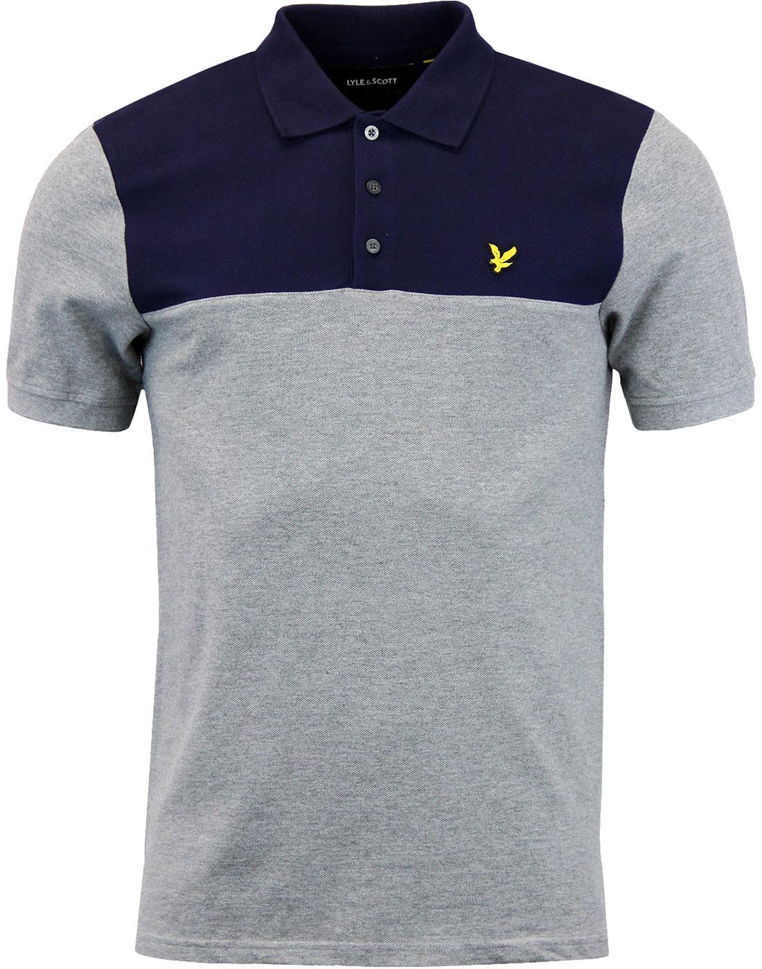 LYLE & SCOTT Retro Yoke Panel Pique Polo Shirt G
