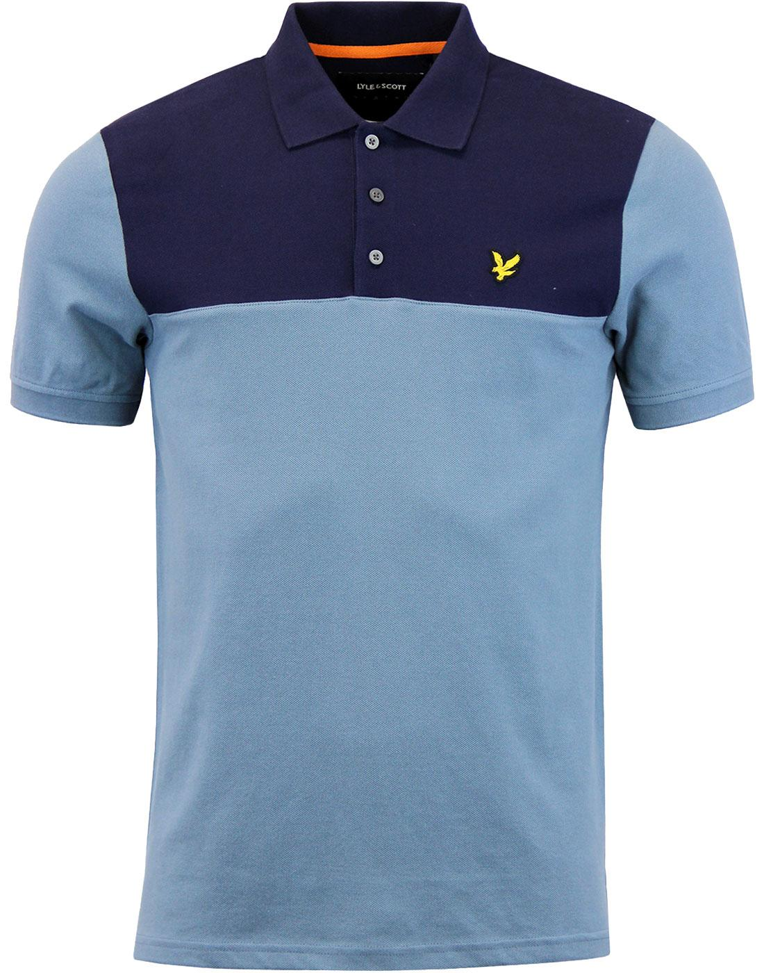 LYLE & SCOTT Retro Yoke Panel Pique Polo Shirt M